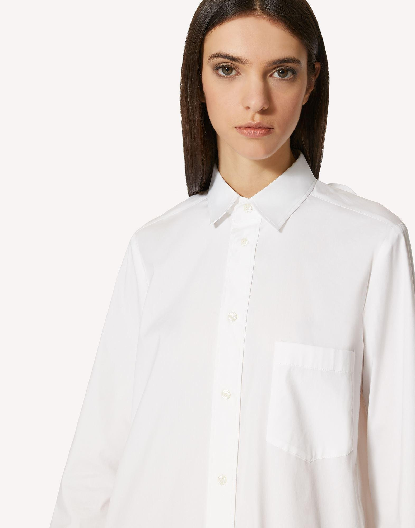 COTTON POPLIN DRESS WITH BOW DETAIL 3