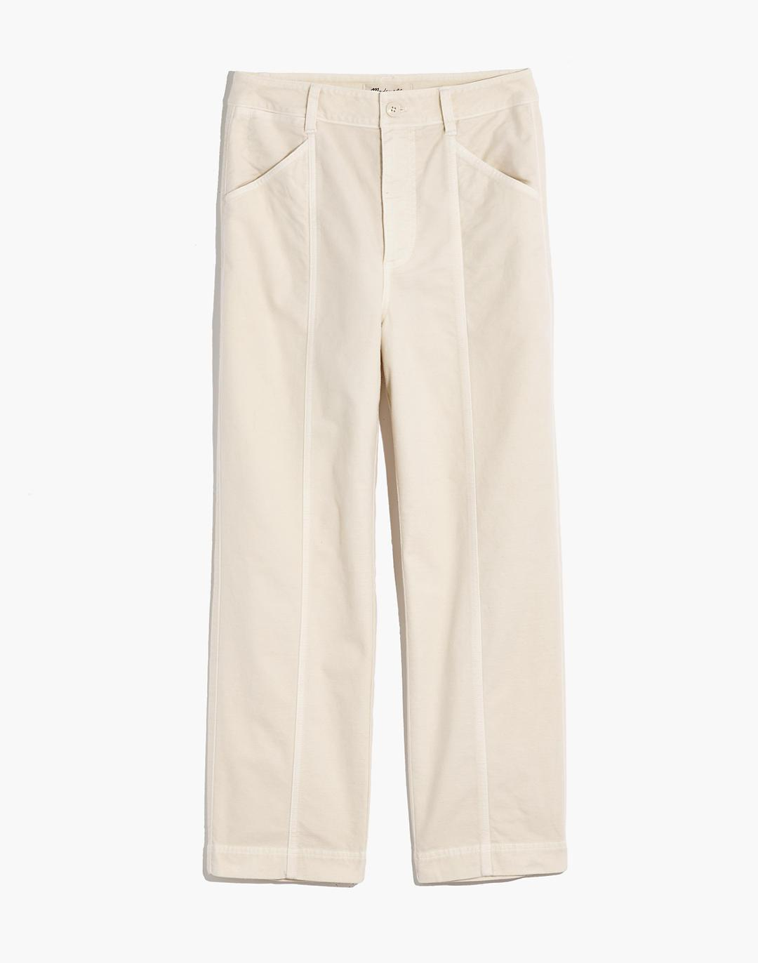 Moleskin High-Rise Seamed Tapered Pants 5