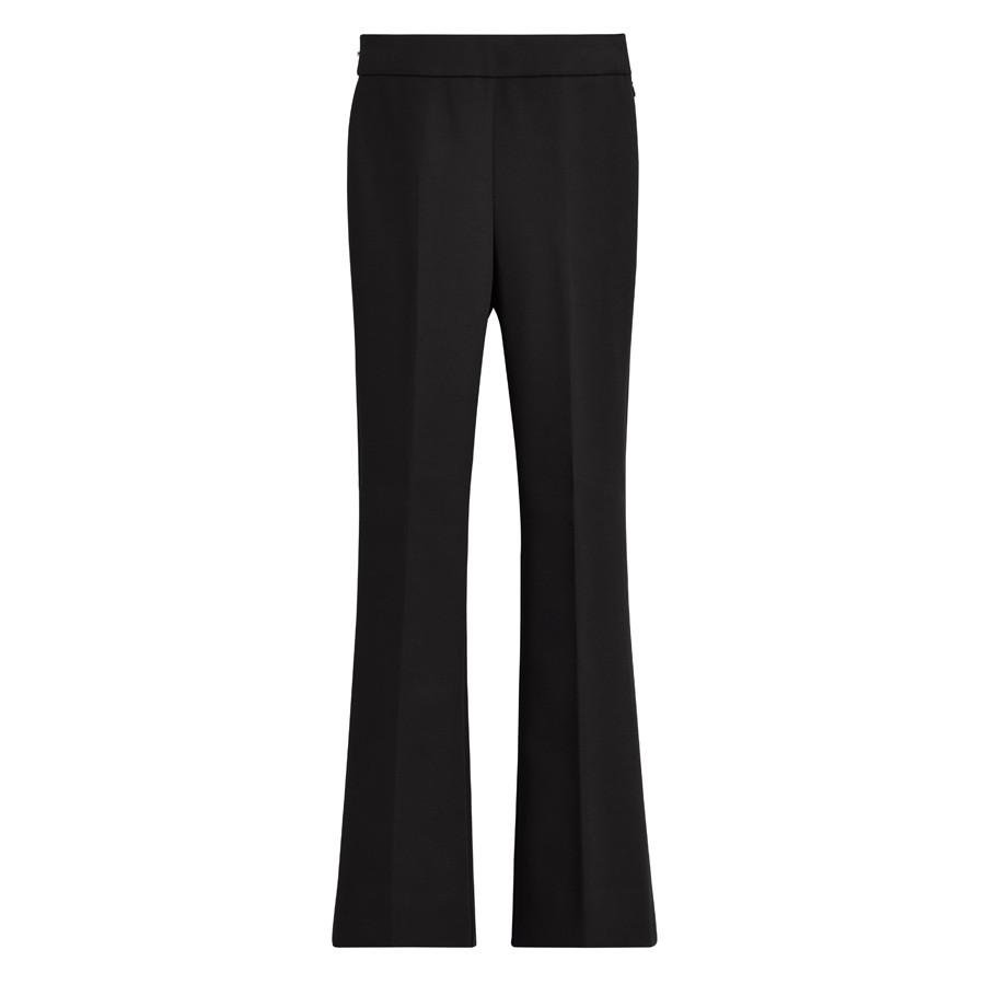 Women's Cotton Twill Flared Pant in Black | Size: