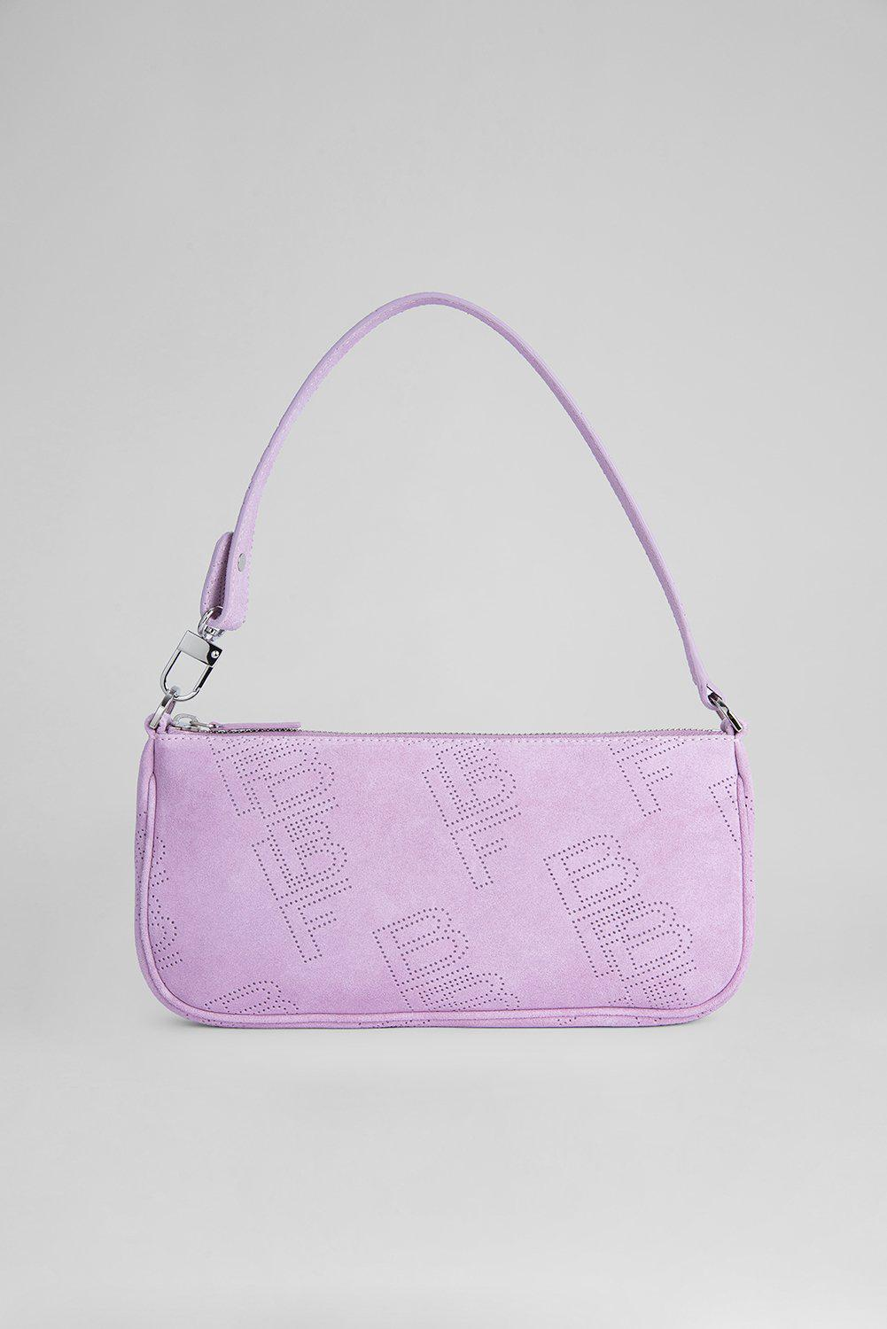 Rachel Mauve Perforated Suede Leather