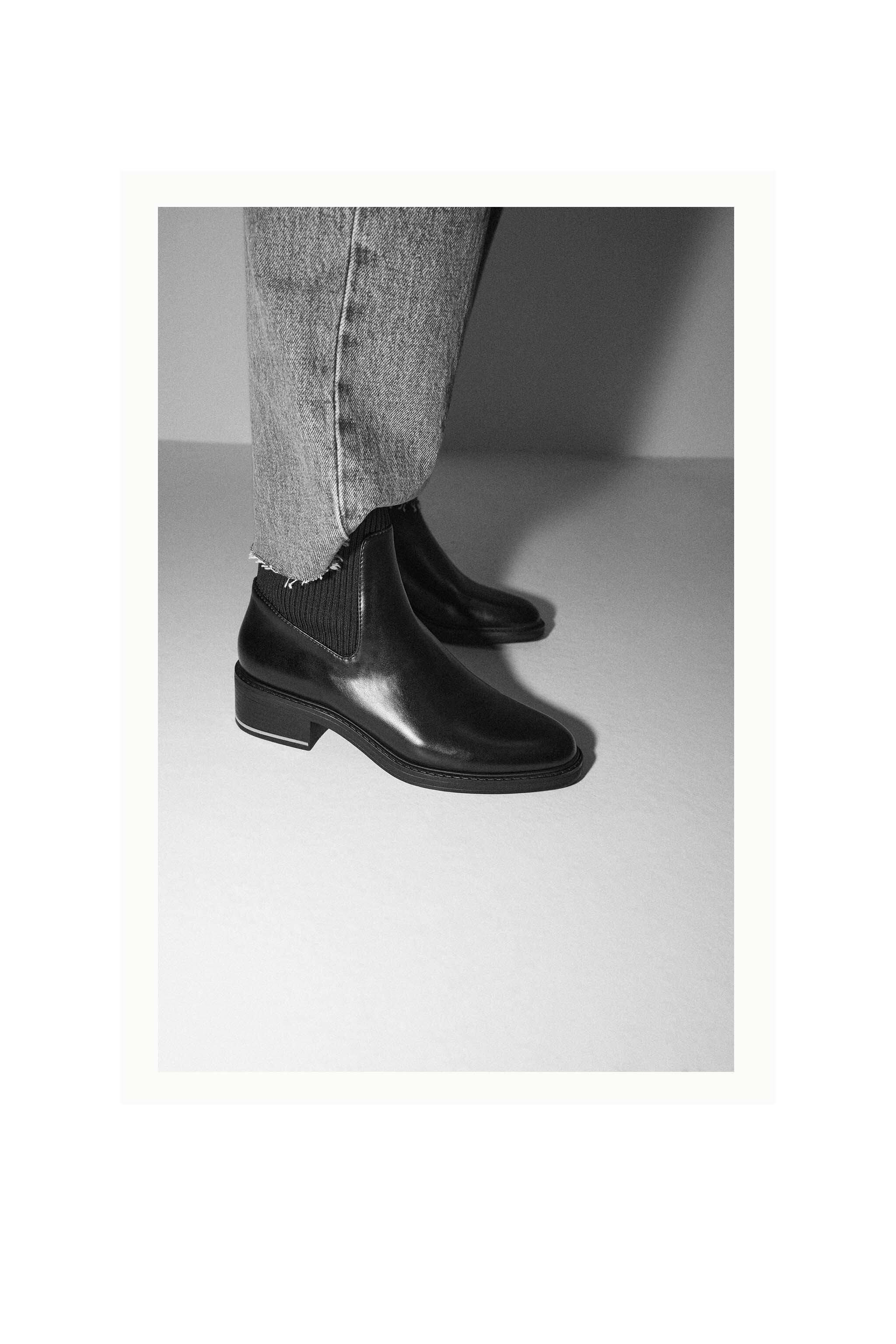 LOW HEELED SOCK-STYLE ANKLE BOOTS 6