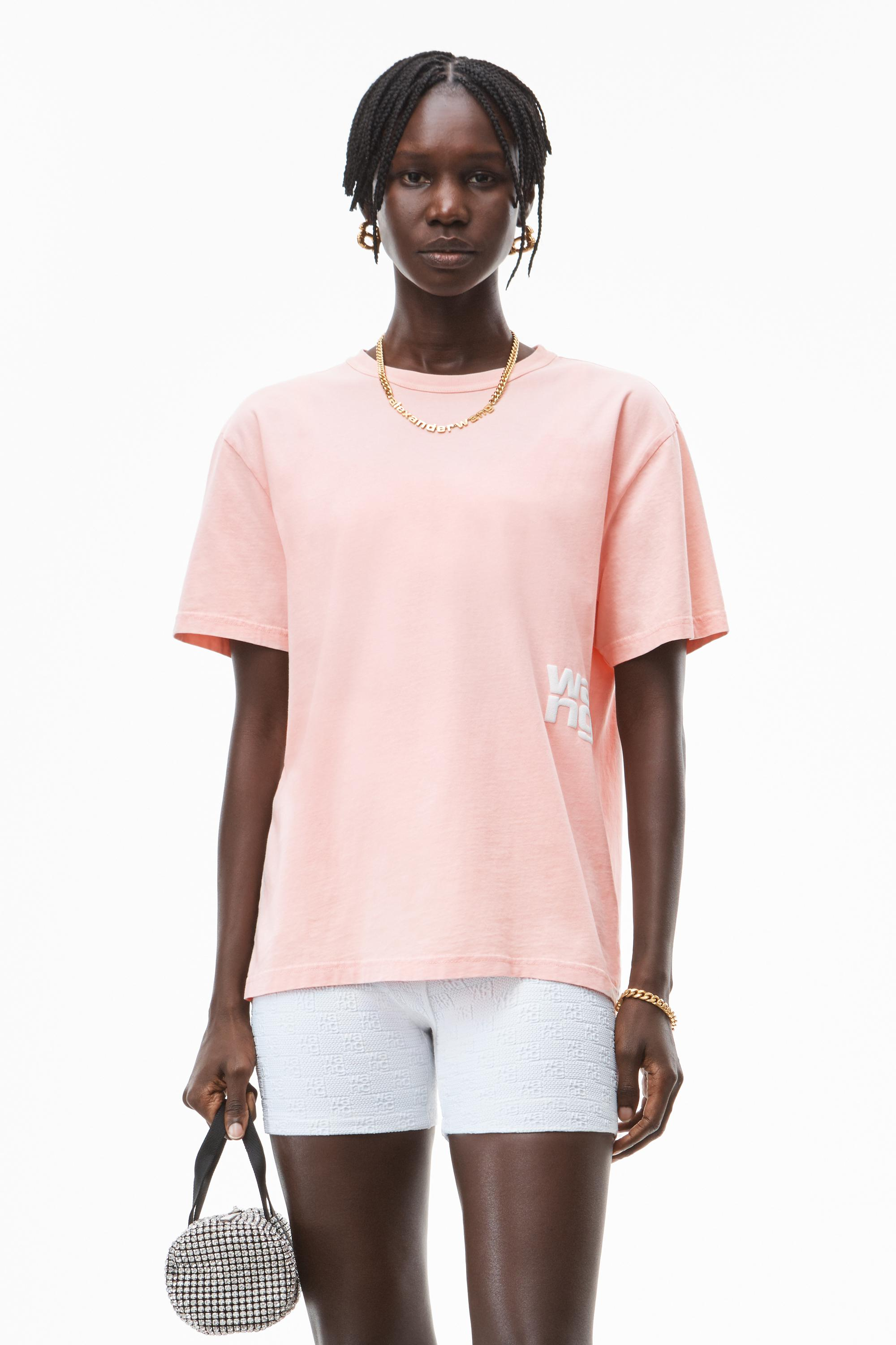 puff logo tee in structured jersey