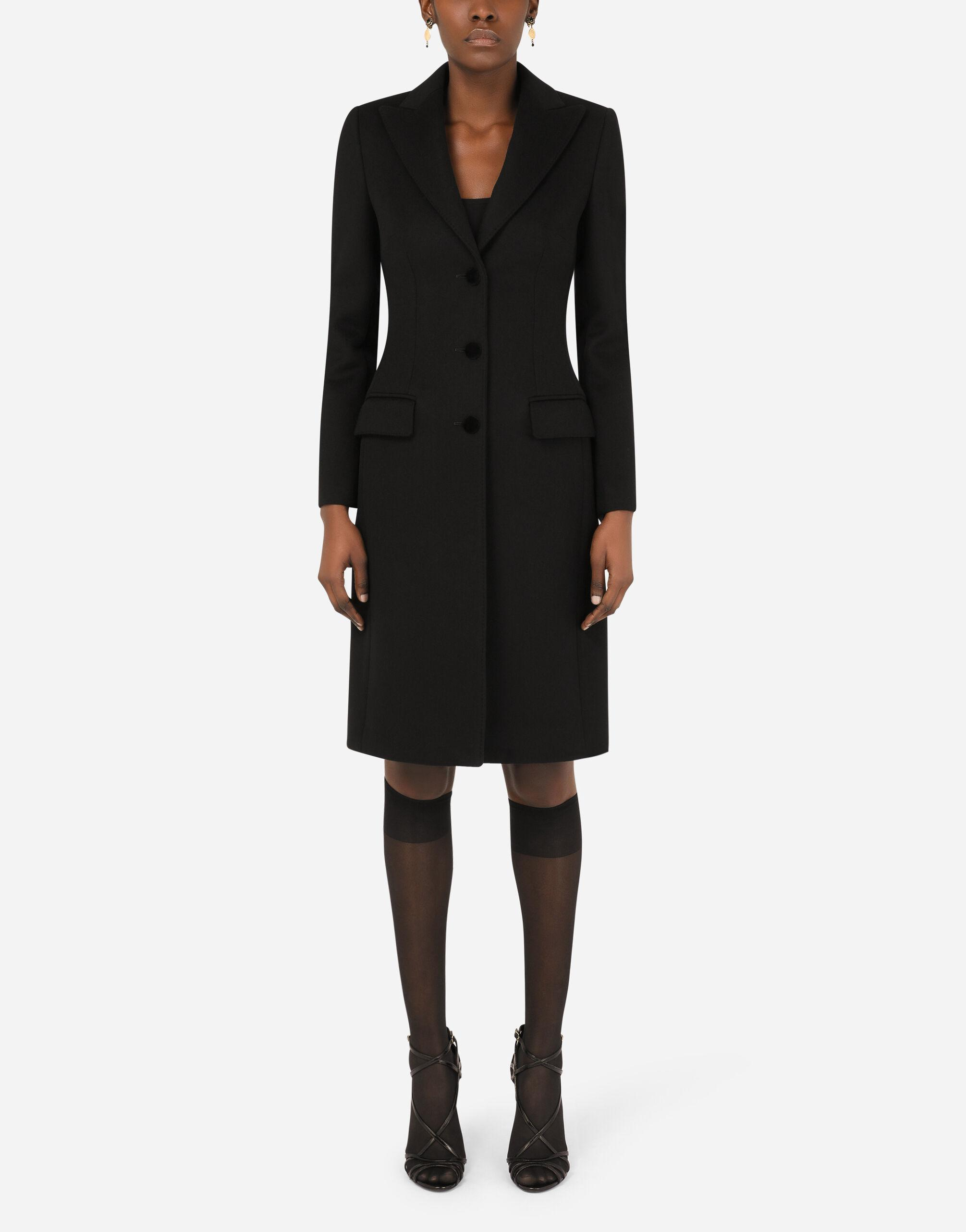 Single-breasted wool and cashmere coat