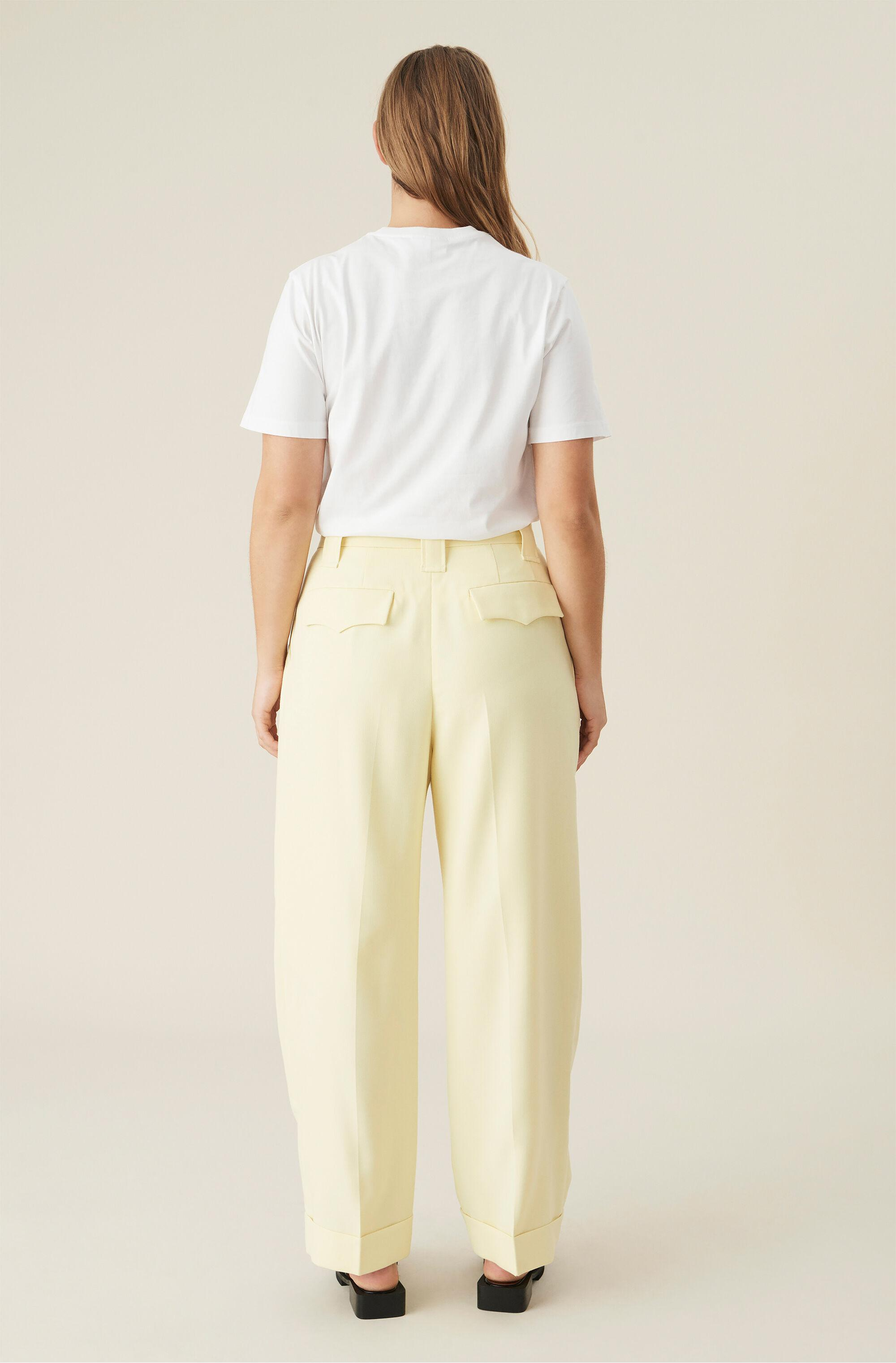 Summer Suiting Pleated Straight Trousers 1