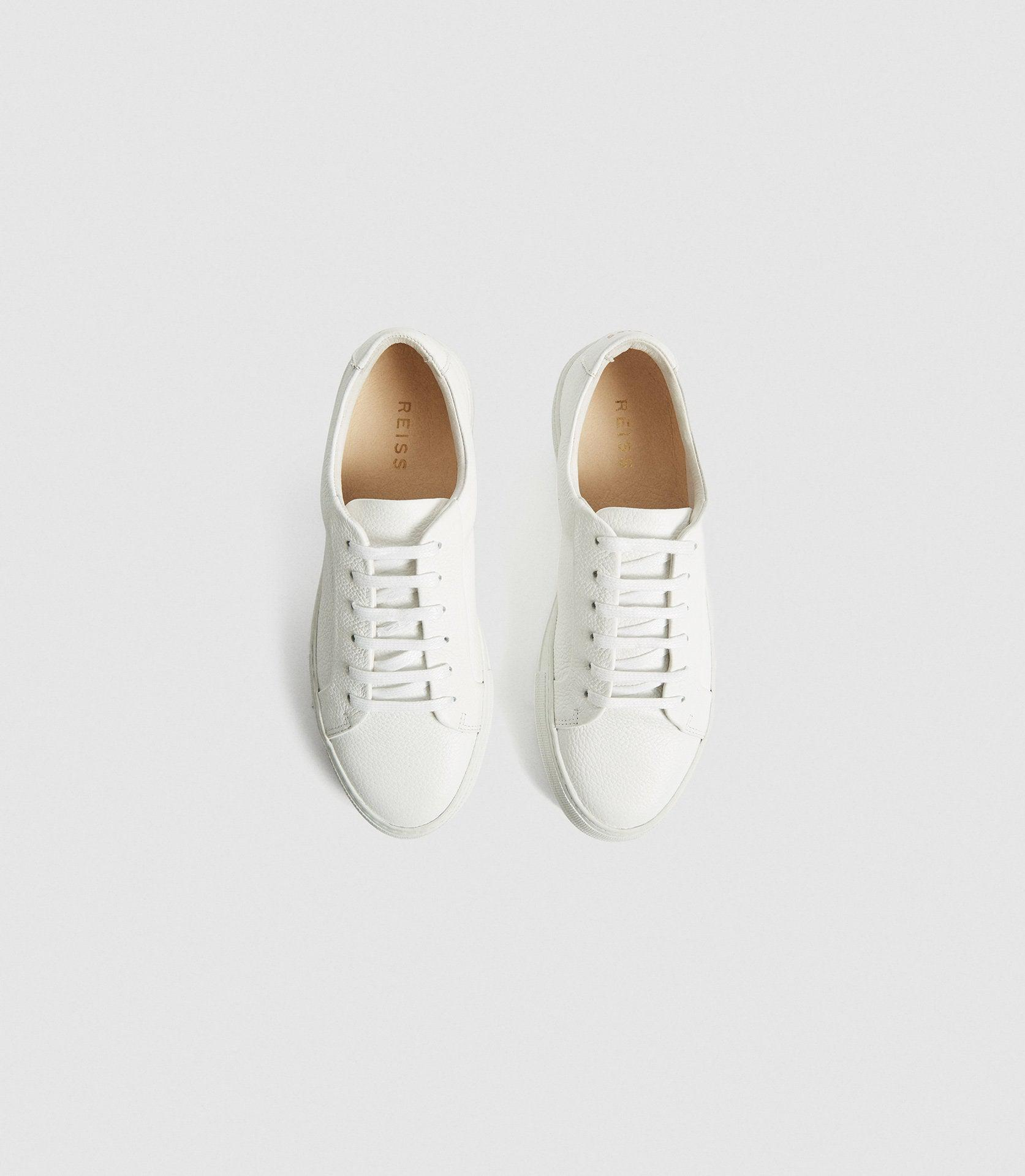 LUCA - PLATFORM TUMBLED LEATHER SNEAKERS 1