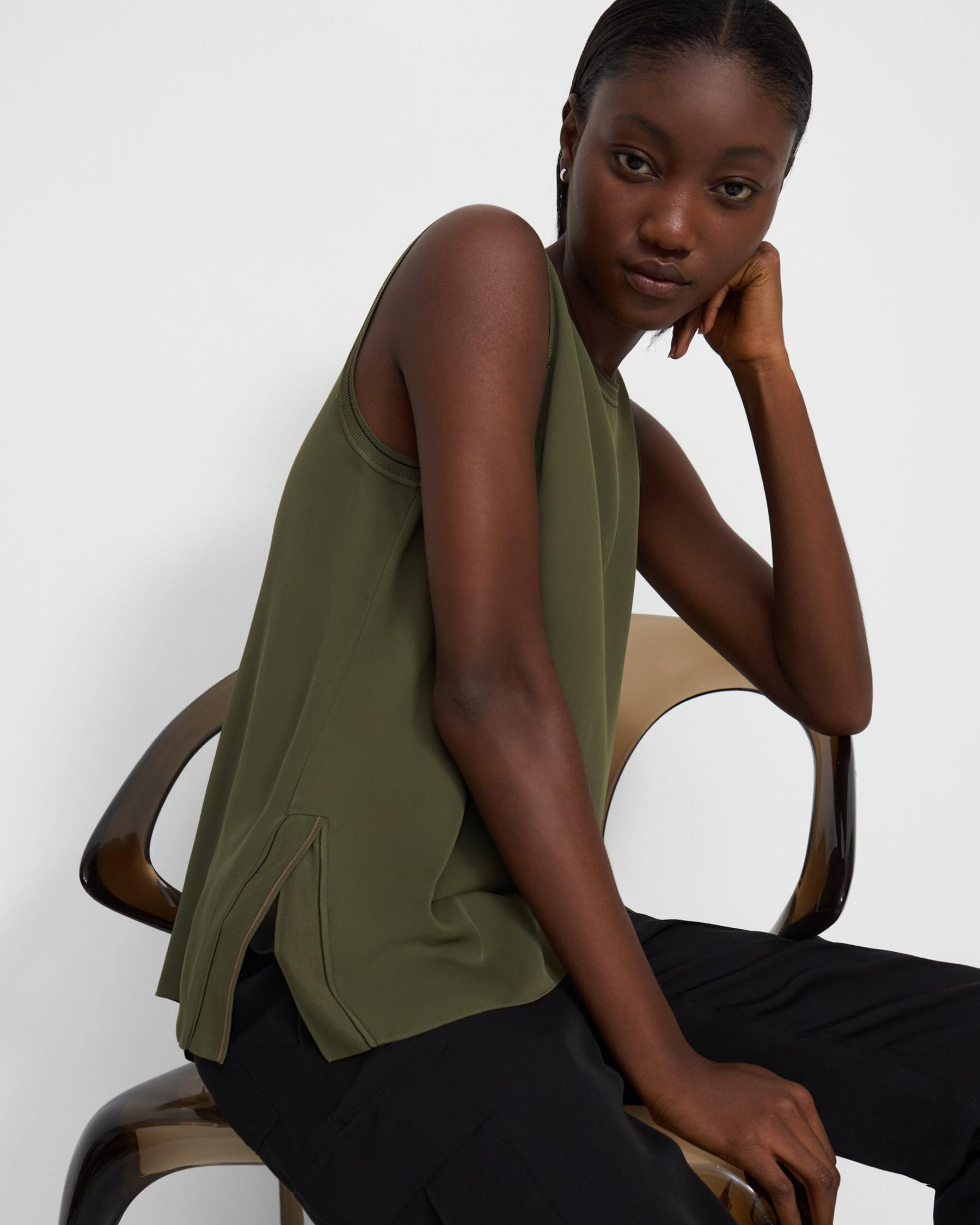 Combo Shell Top in Silk 0