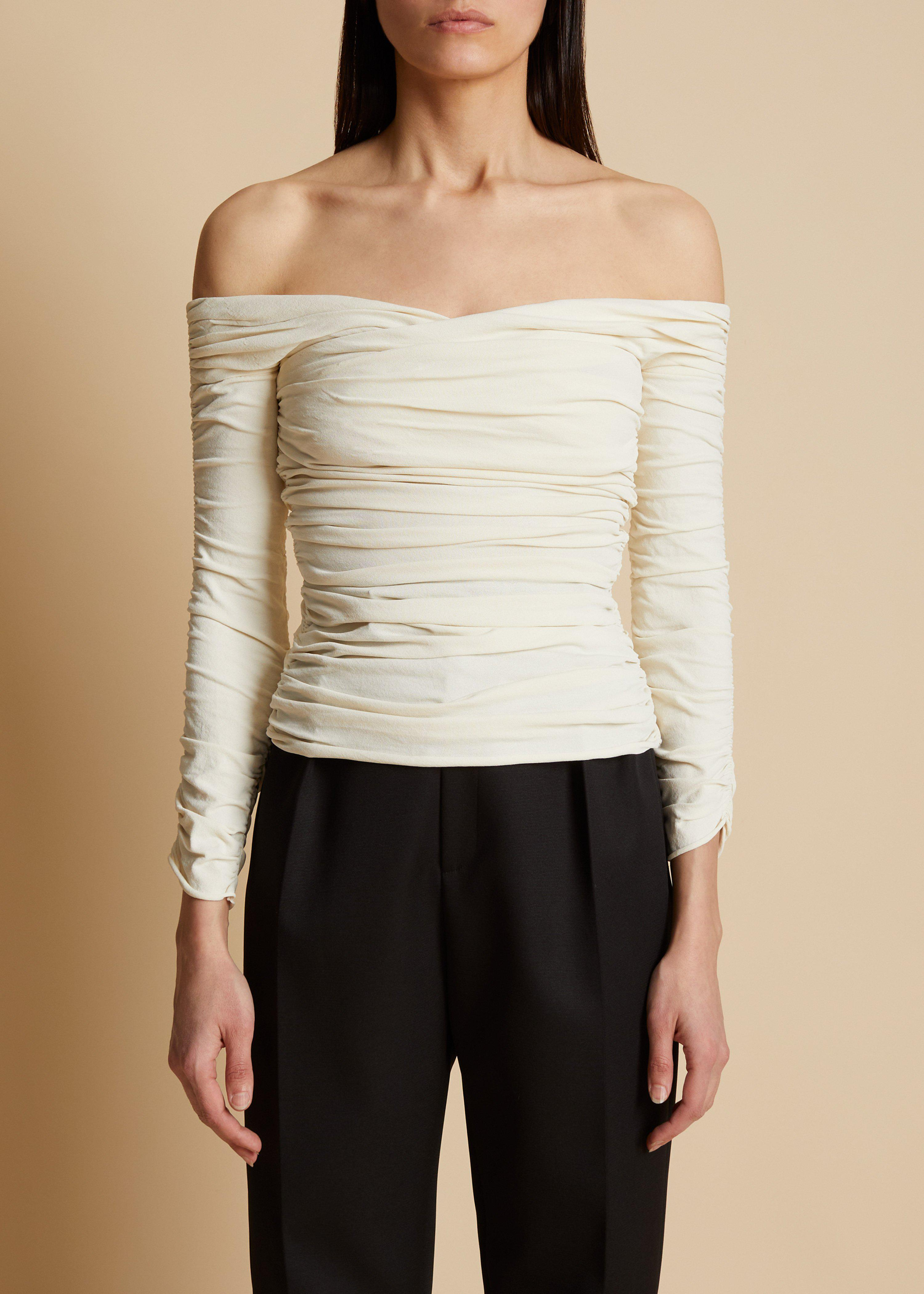 The Elsa Top in Ivory