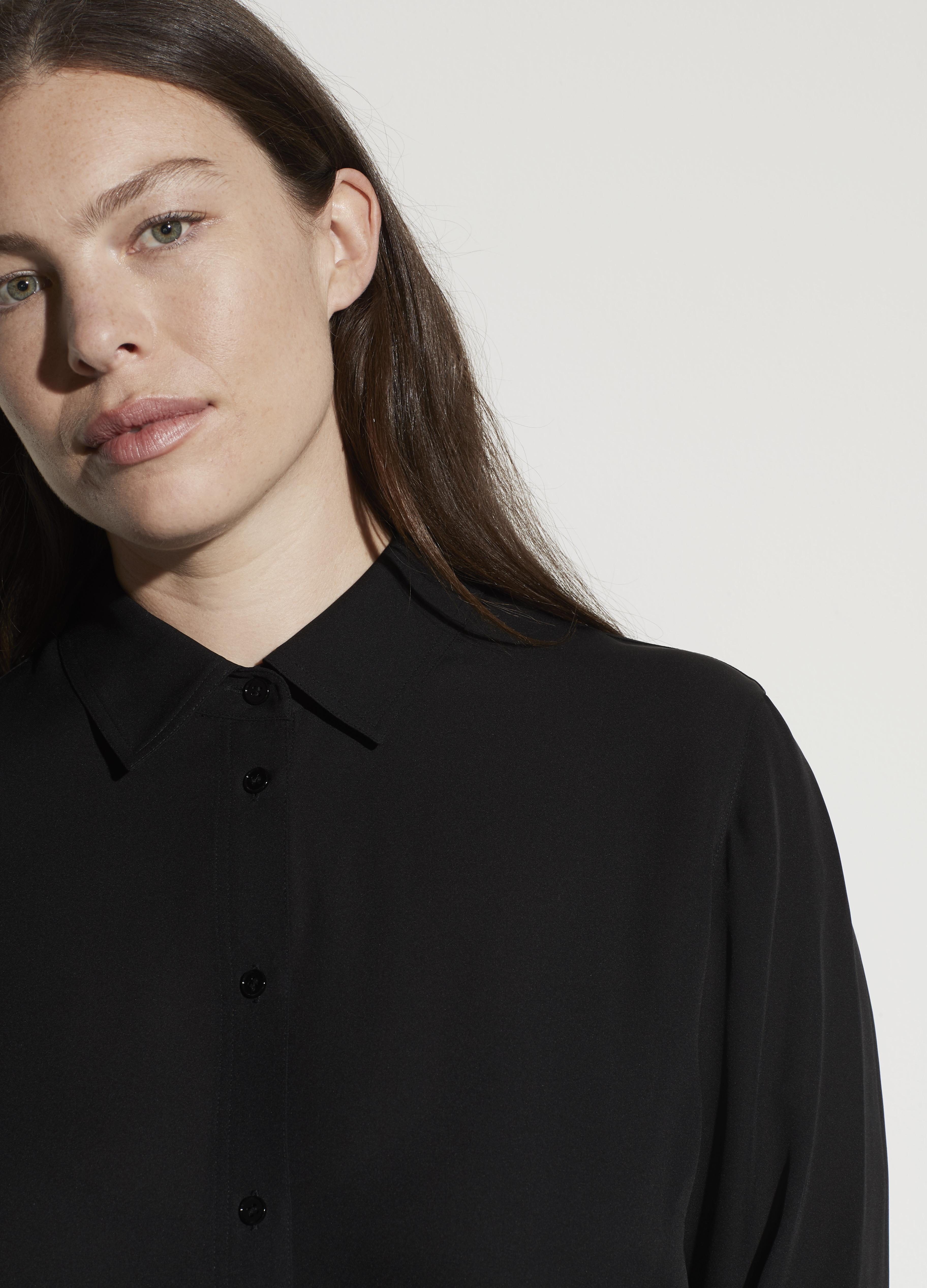 Fitted Stretch-Silk Blouse 1