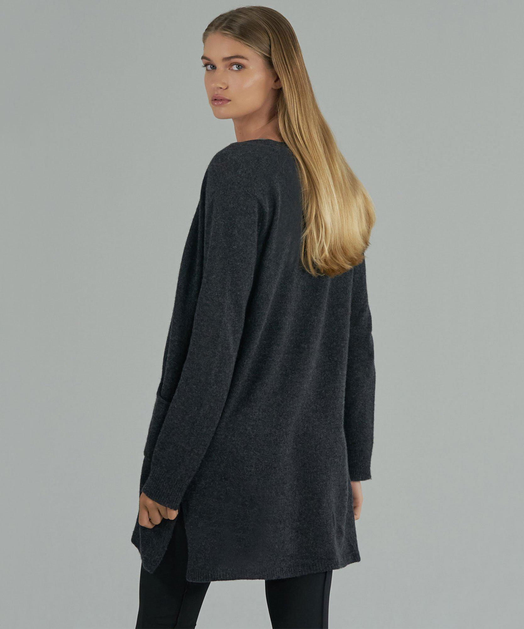 Cashmere Cardigan - Charcoal 3