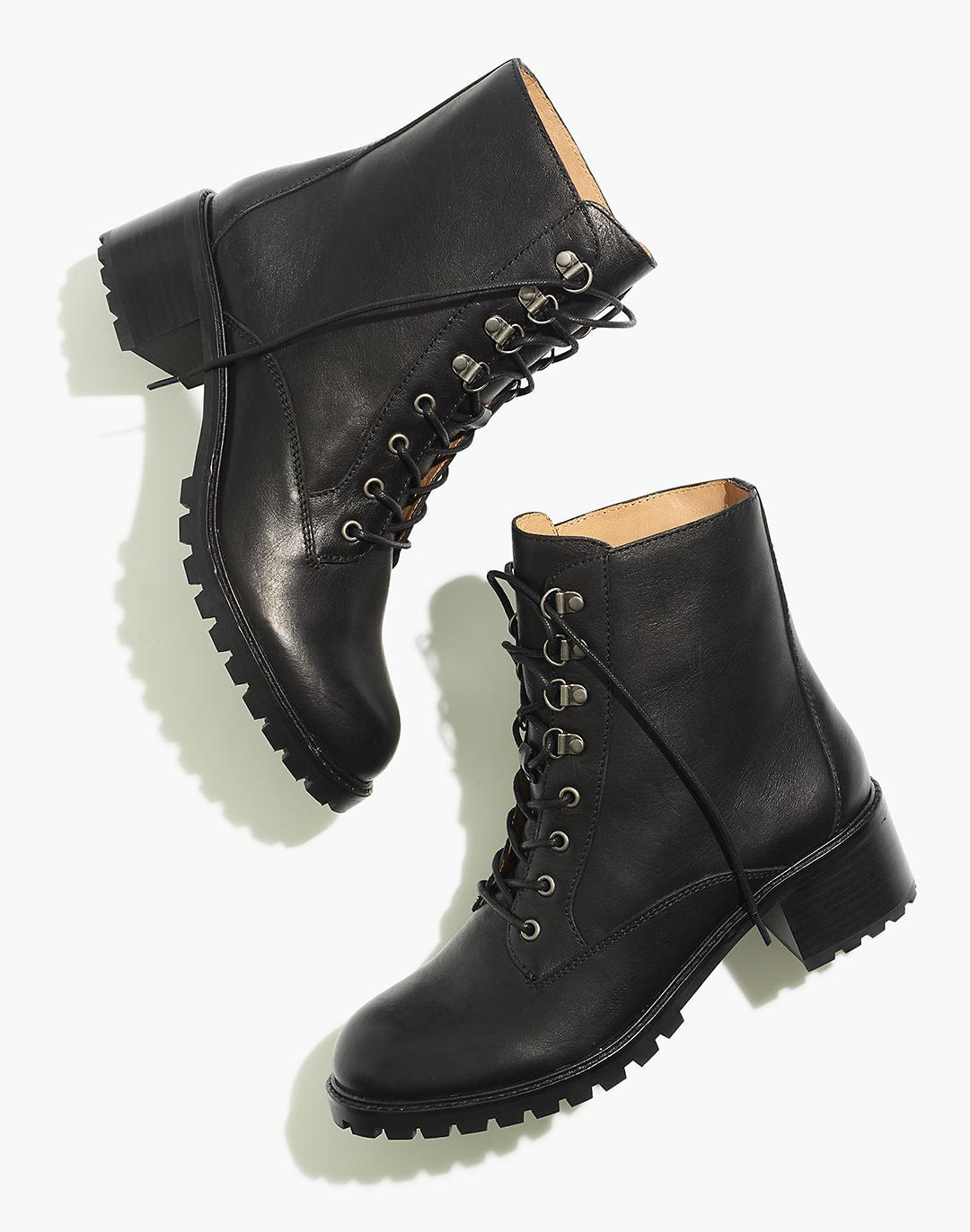 The Julien Lace-Up Lugsole Boot in Leather