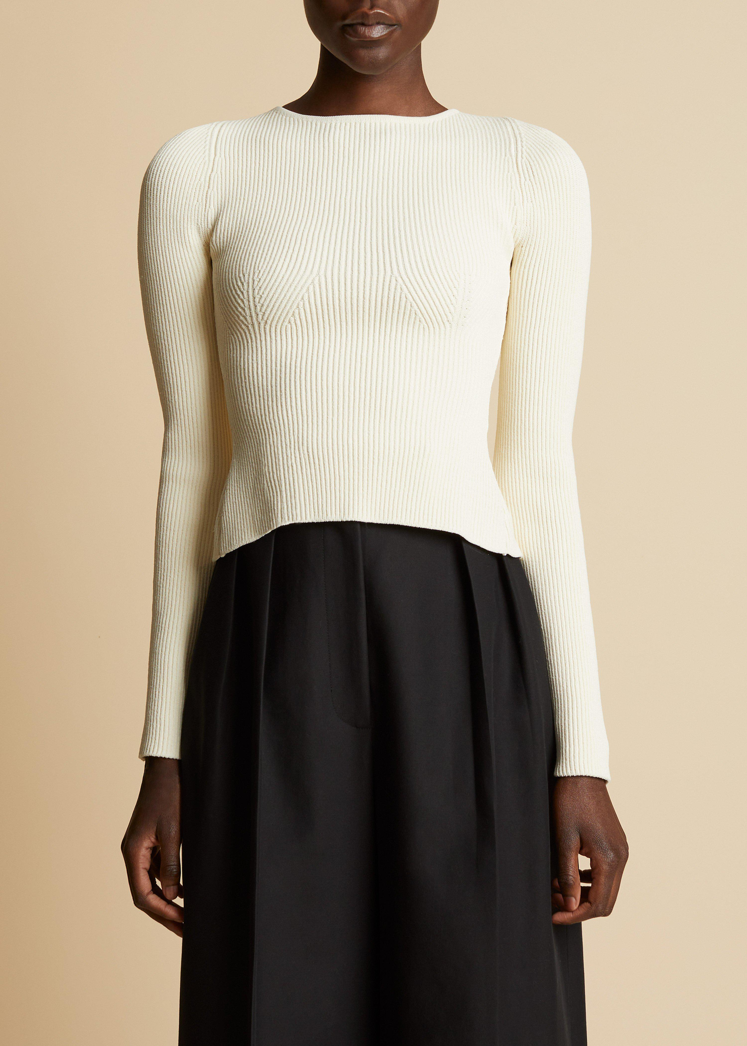 The Angelina Top in Ivory