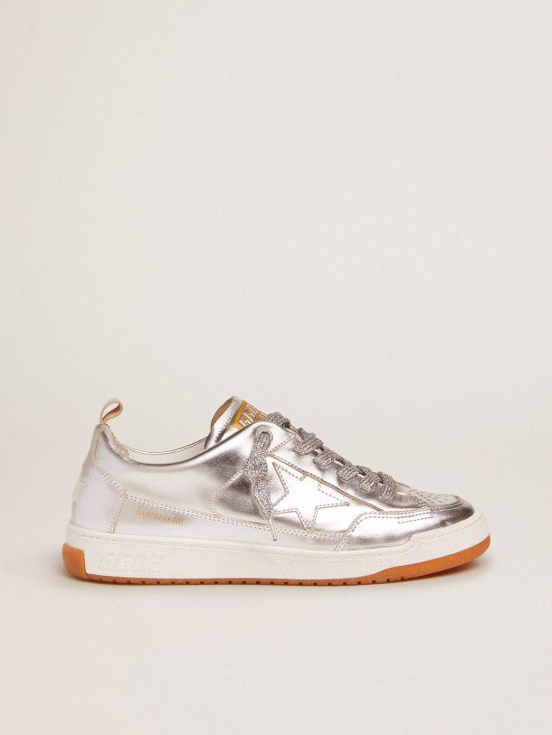 Yeah sneakers in silver laminated leather