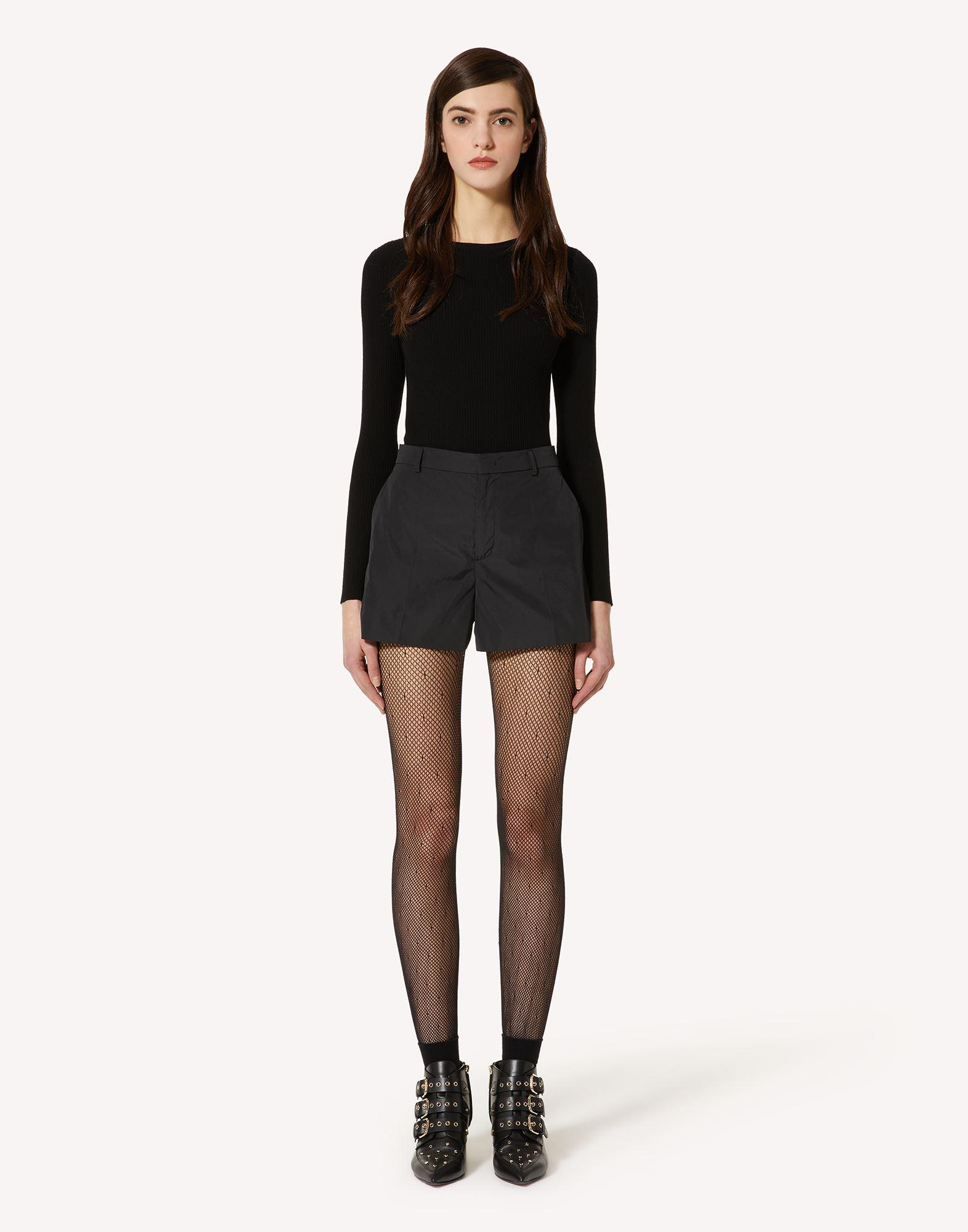 STRETCH VISCOSE SWEATER WITH BOW DETAIL