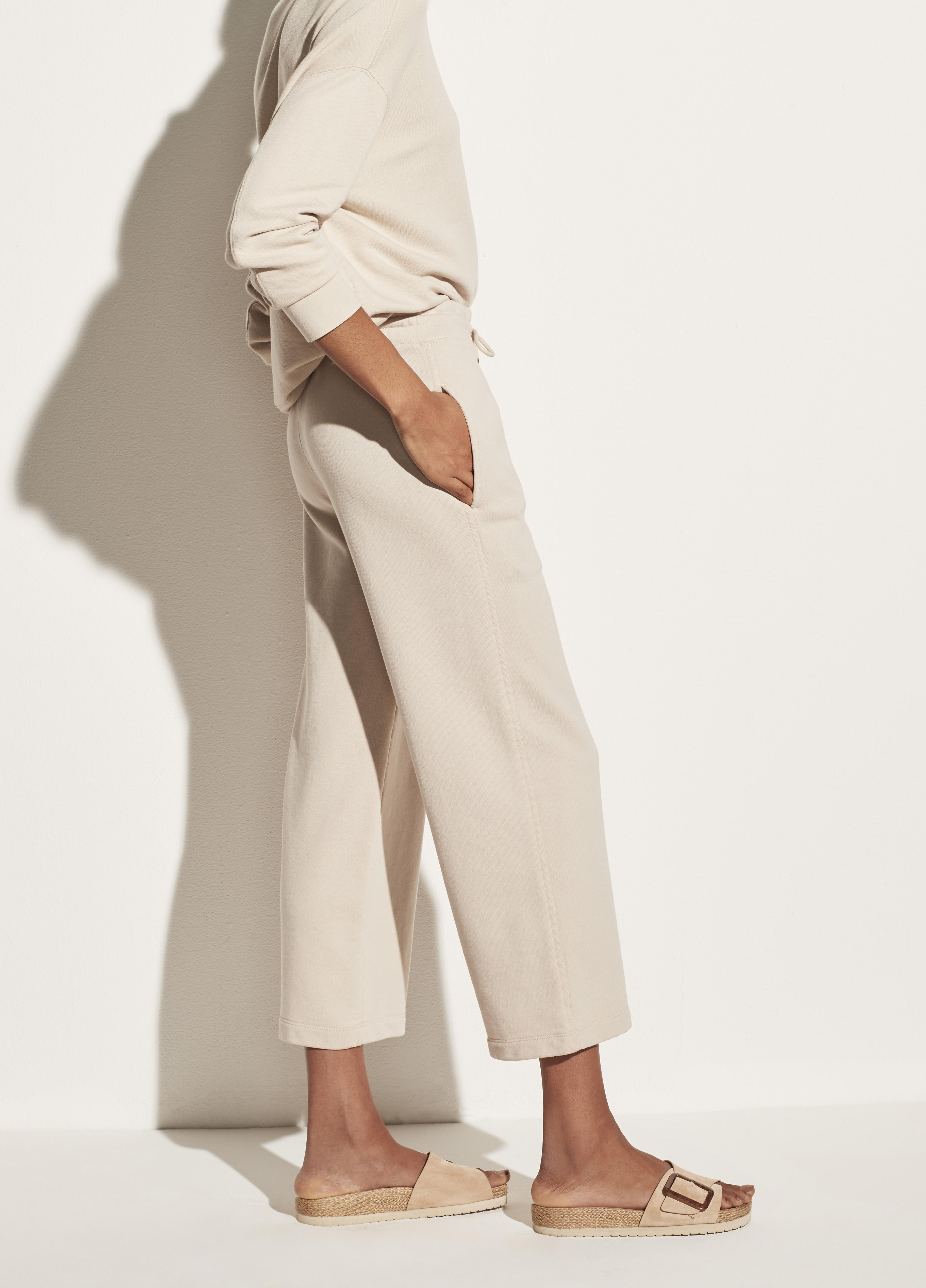 Garment Washed French Terry Cropped Pant 1