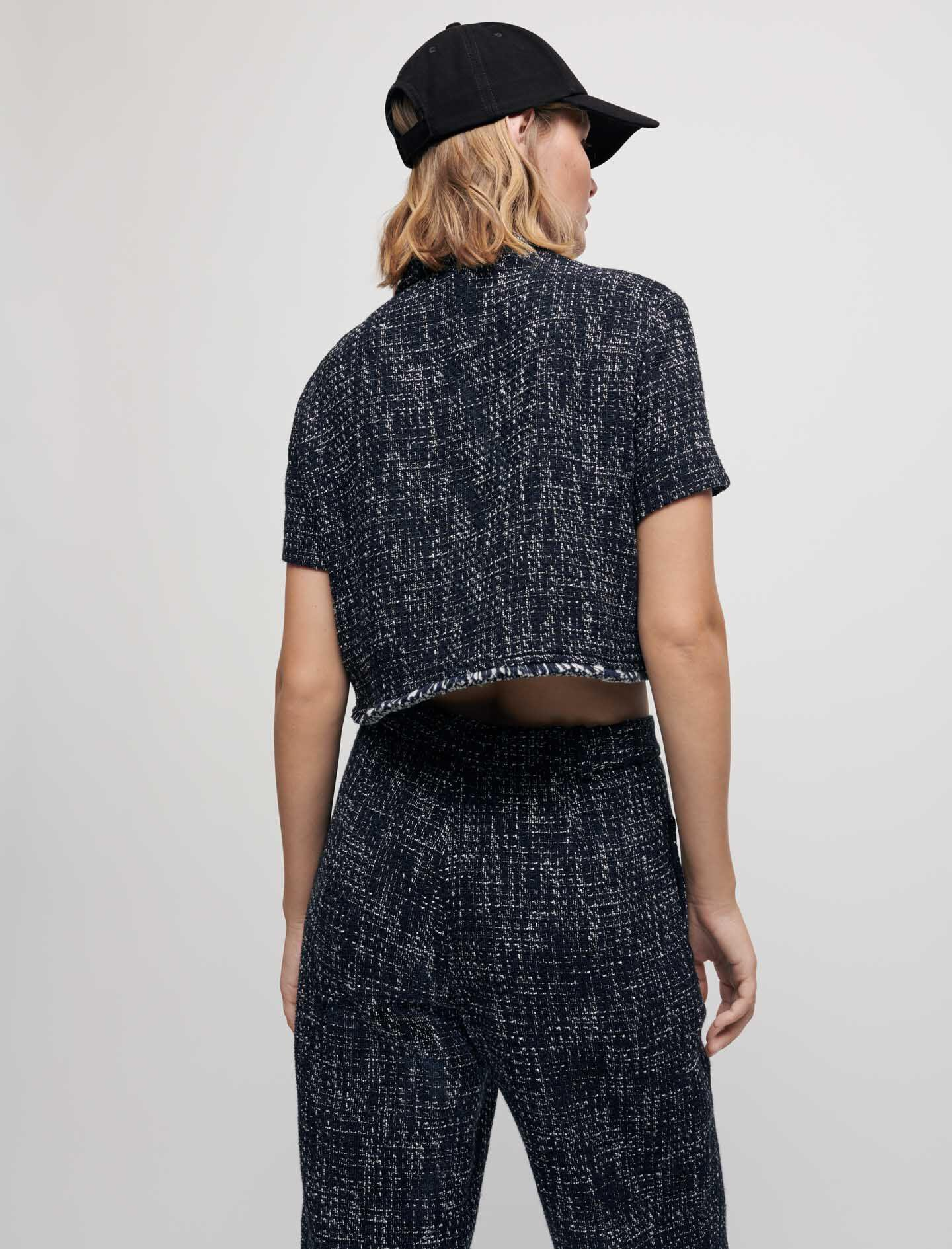 TWEED-STYLE CROPPED SHIRT 3