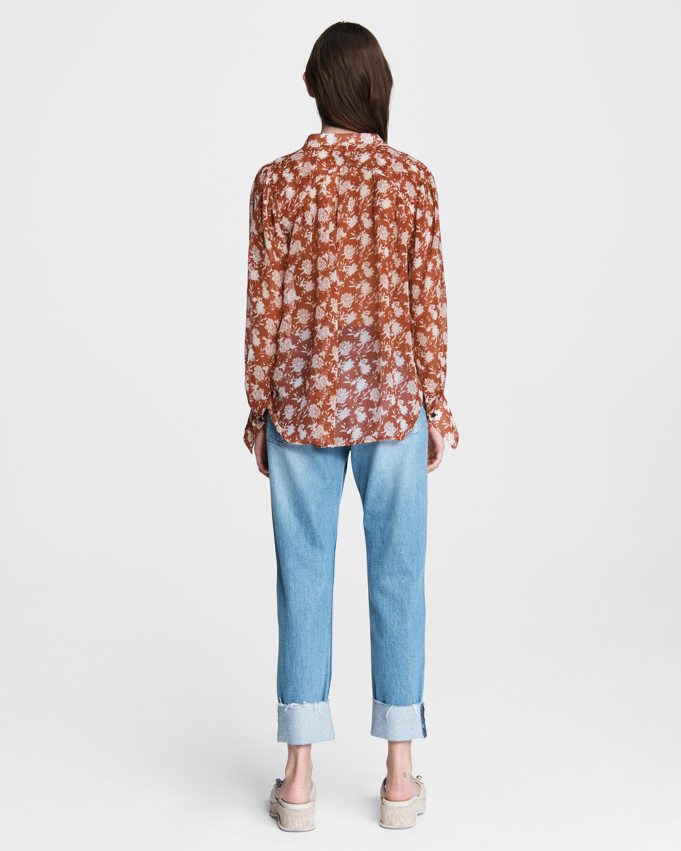 Carly floral tie blouse 3