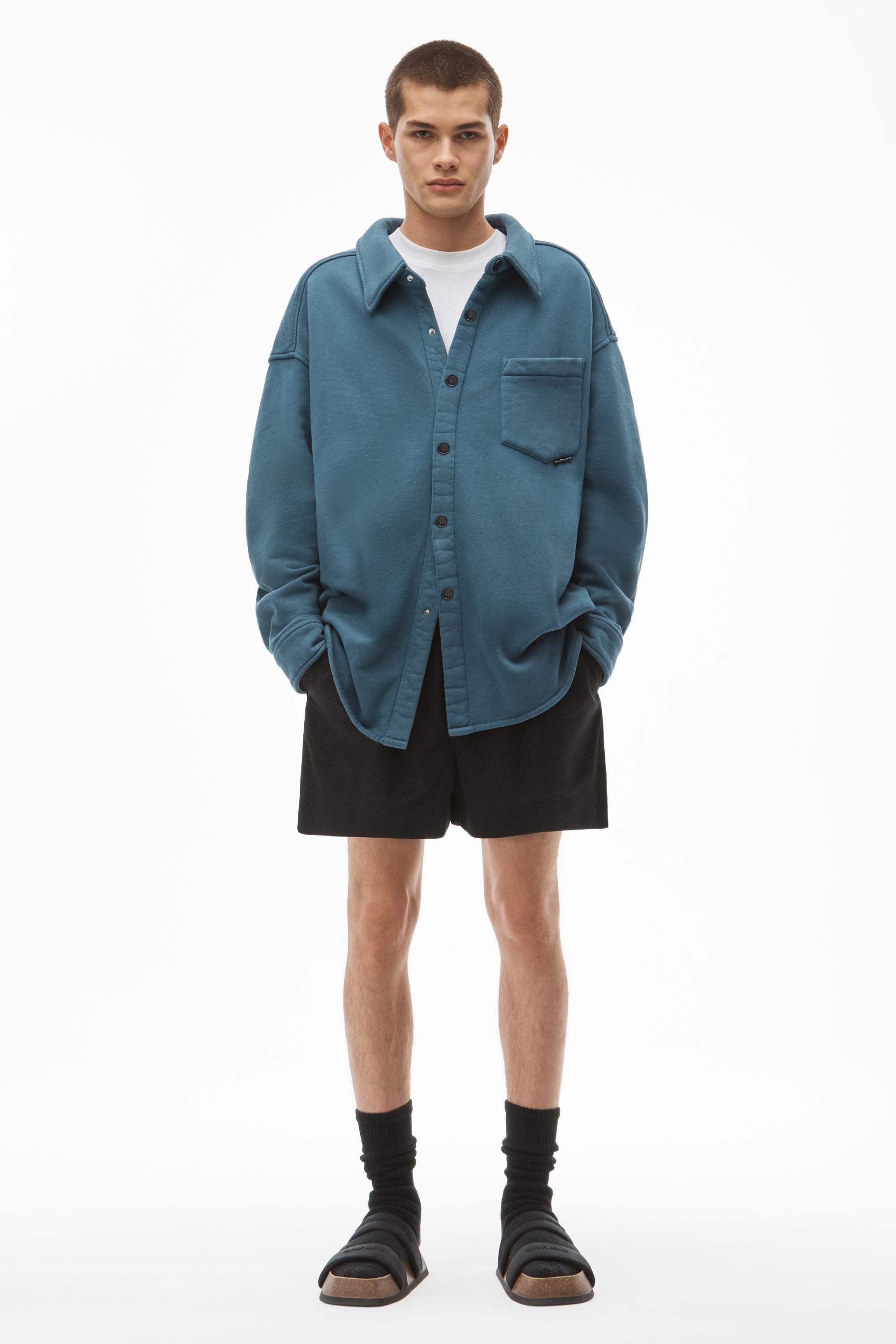 shirt jacket in terry 6