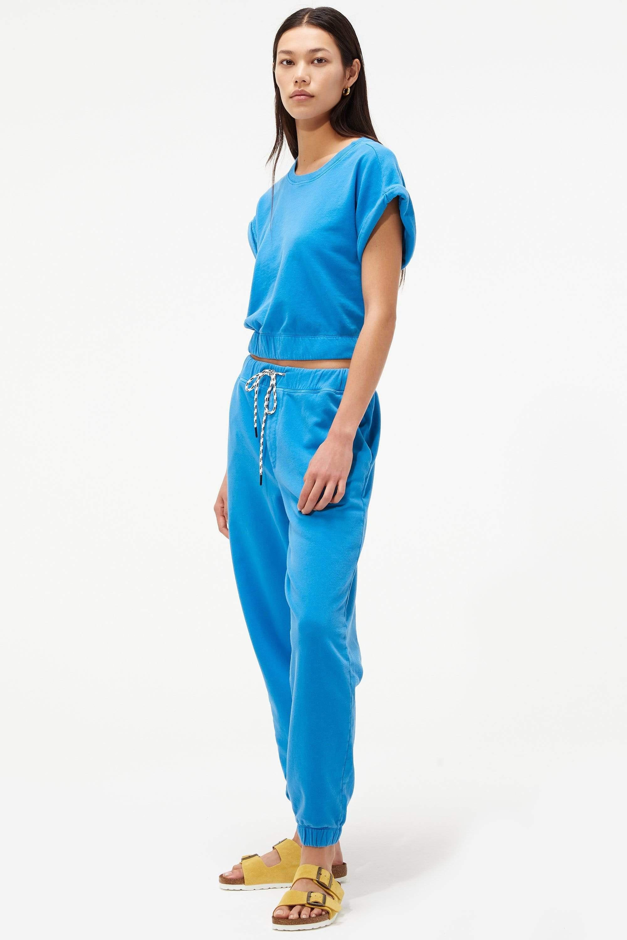 Franky French Terry 7/8 Sweatpant - Persian Blue 3