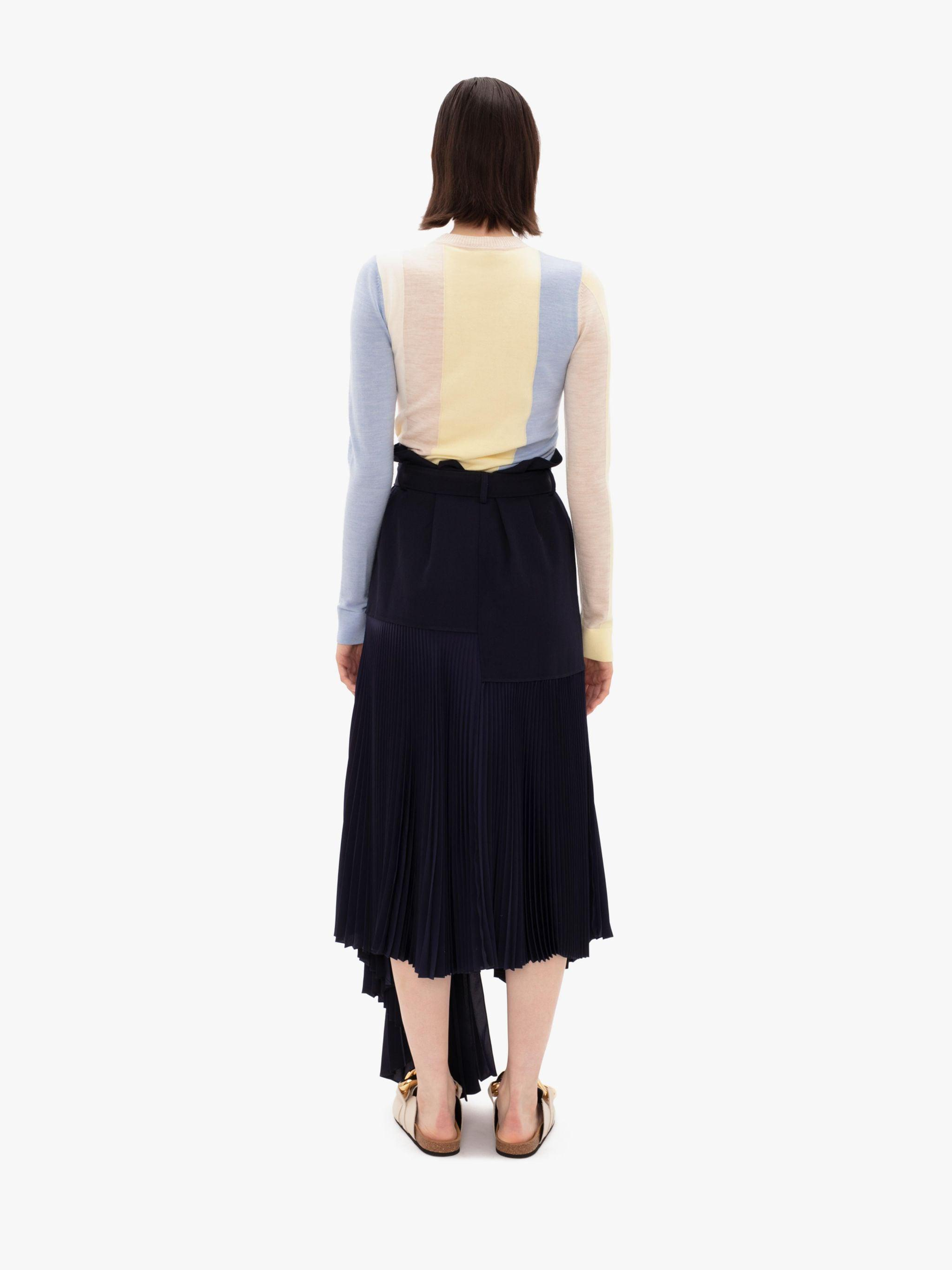 BELTED PLEATED SKIRT 2