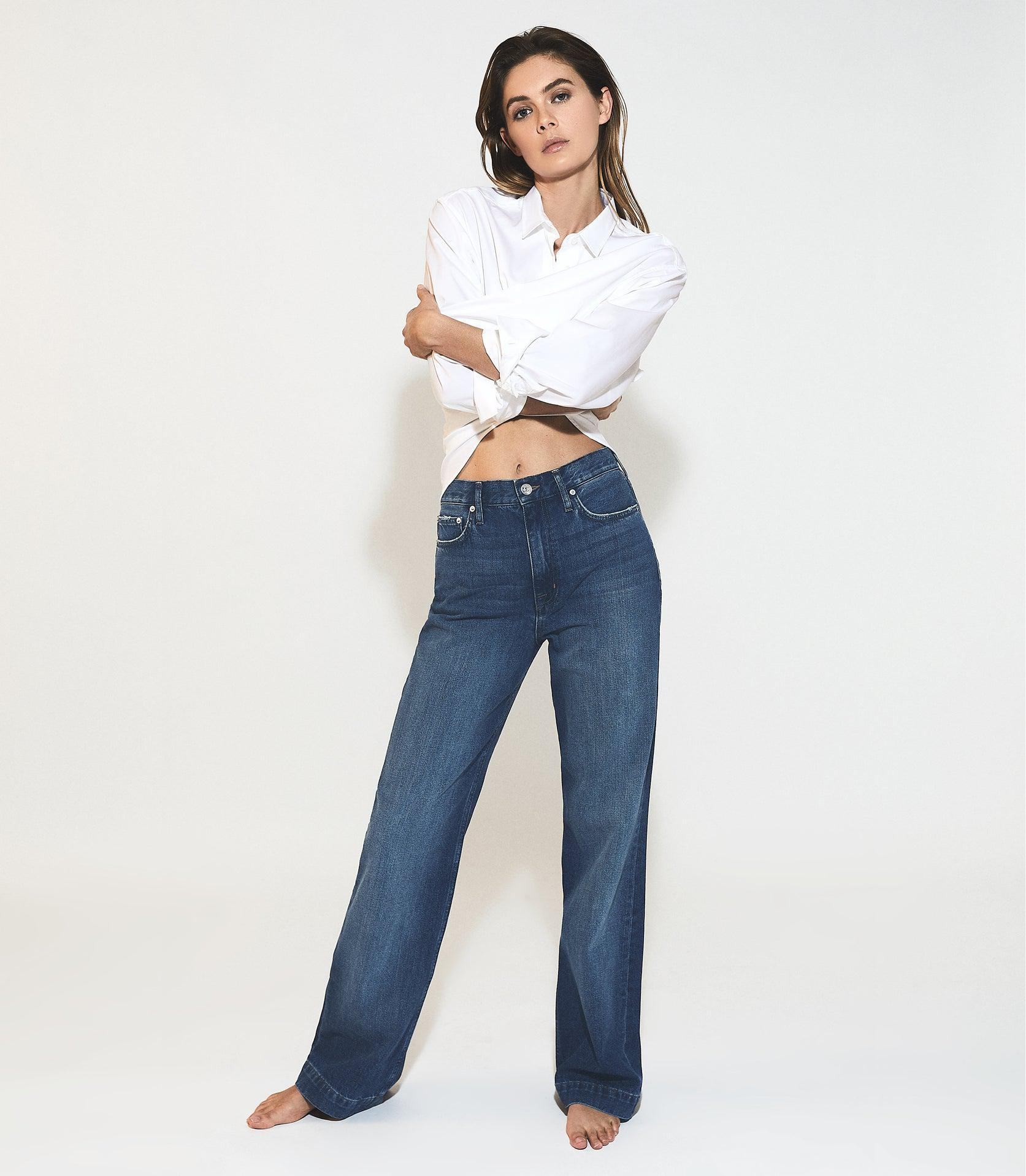 ADELE - MID RISE RELAXED WIDE LEG JEANS