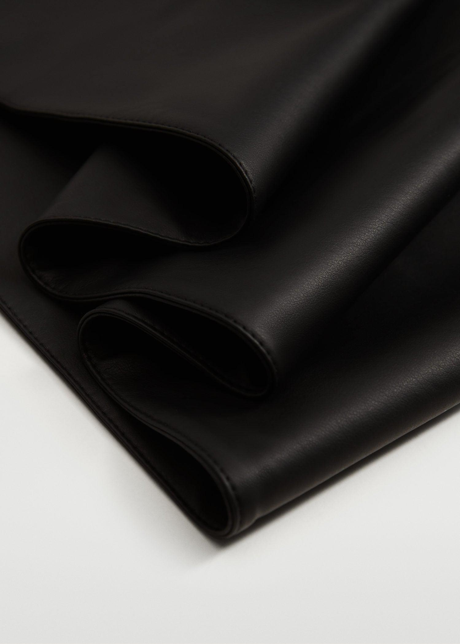 Faux leather scarf 3