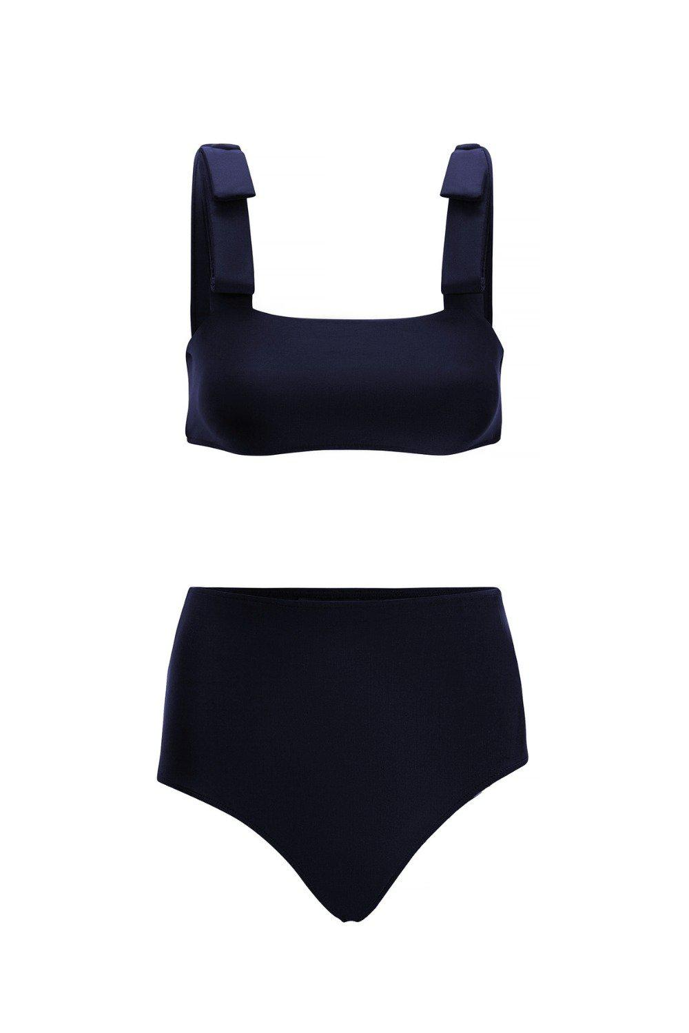 Fiore Solid Hot Pants Bikini with Straps 2