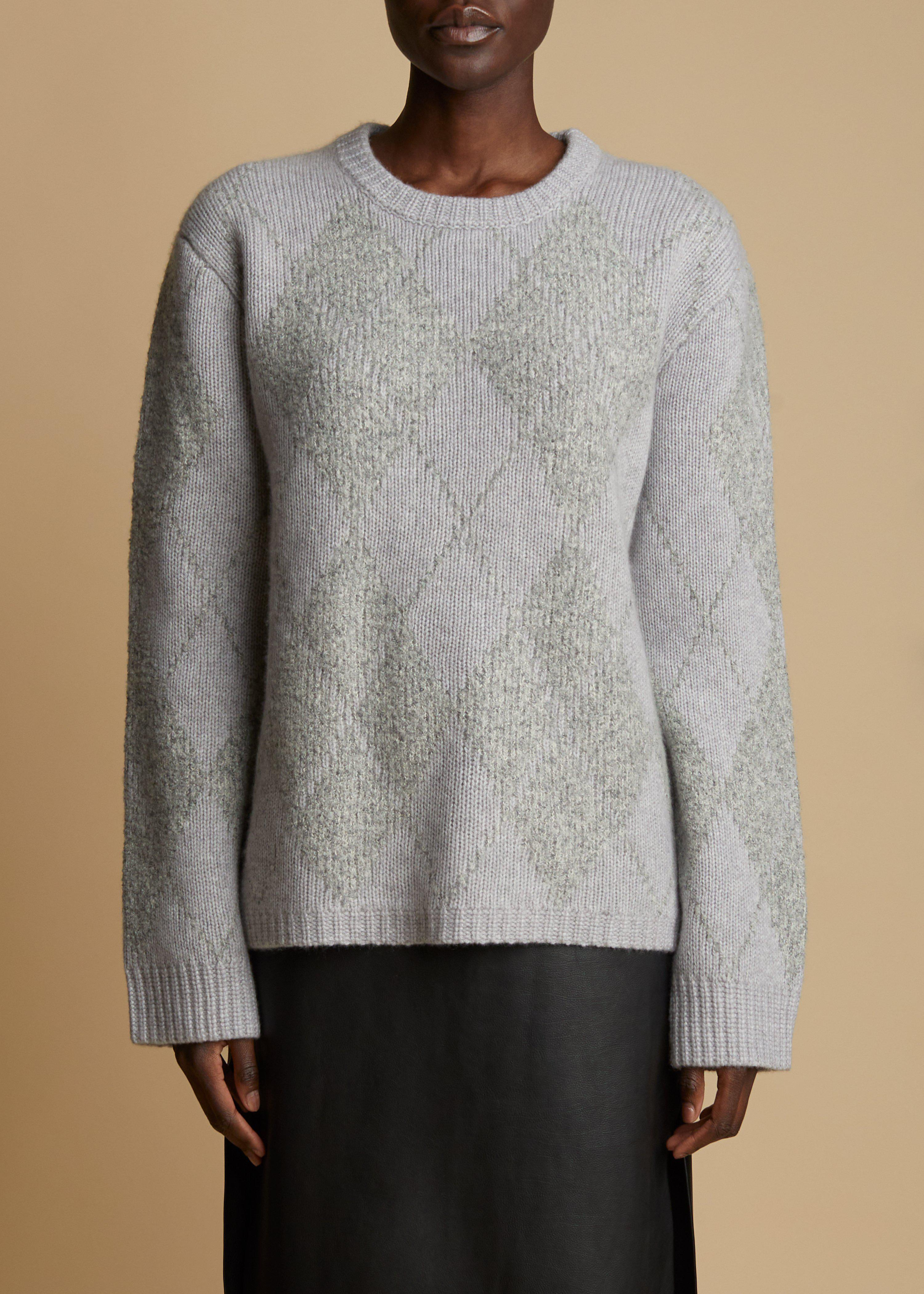 The Siro Sweater in Grey and Charcoal