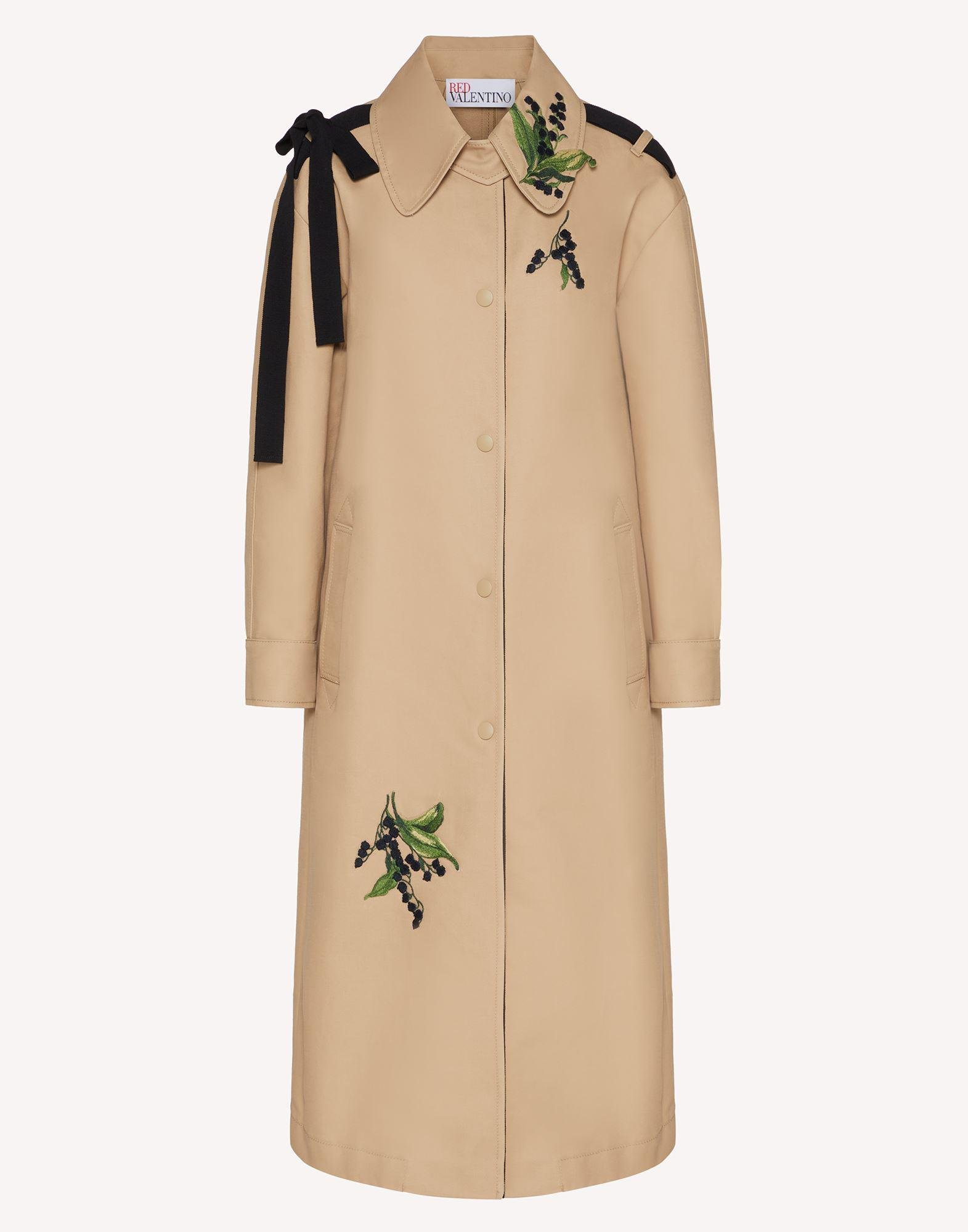 MAY LILY EMBROIDERED TRENCH COAT WITH BOW DETAIL 4