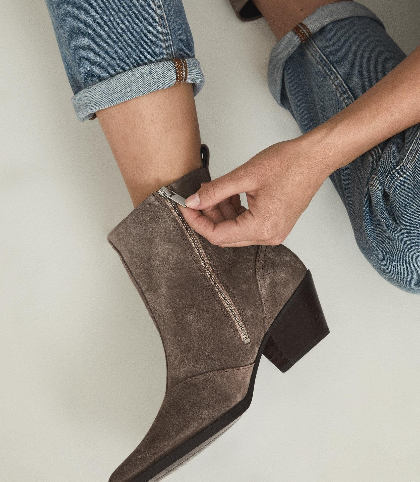 HAYWORTH SUEDE - SUEDE WESTERN ANKLE BOOTS 5