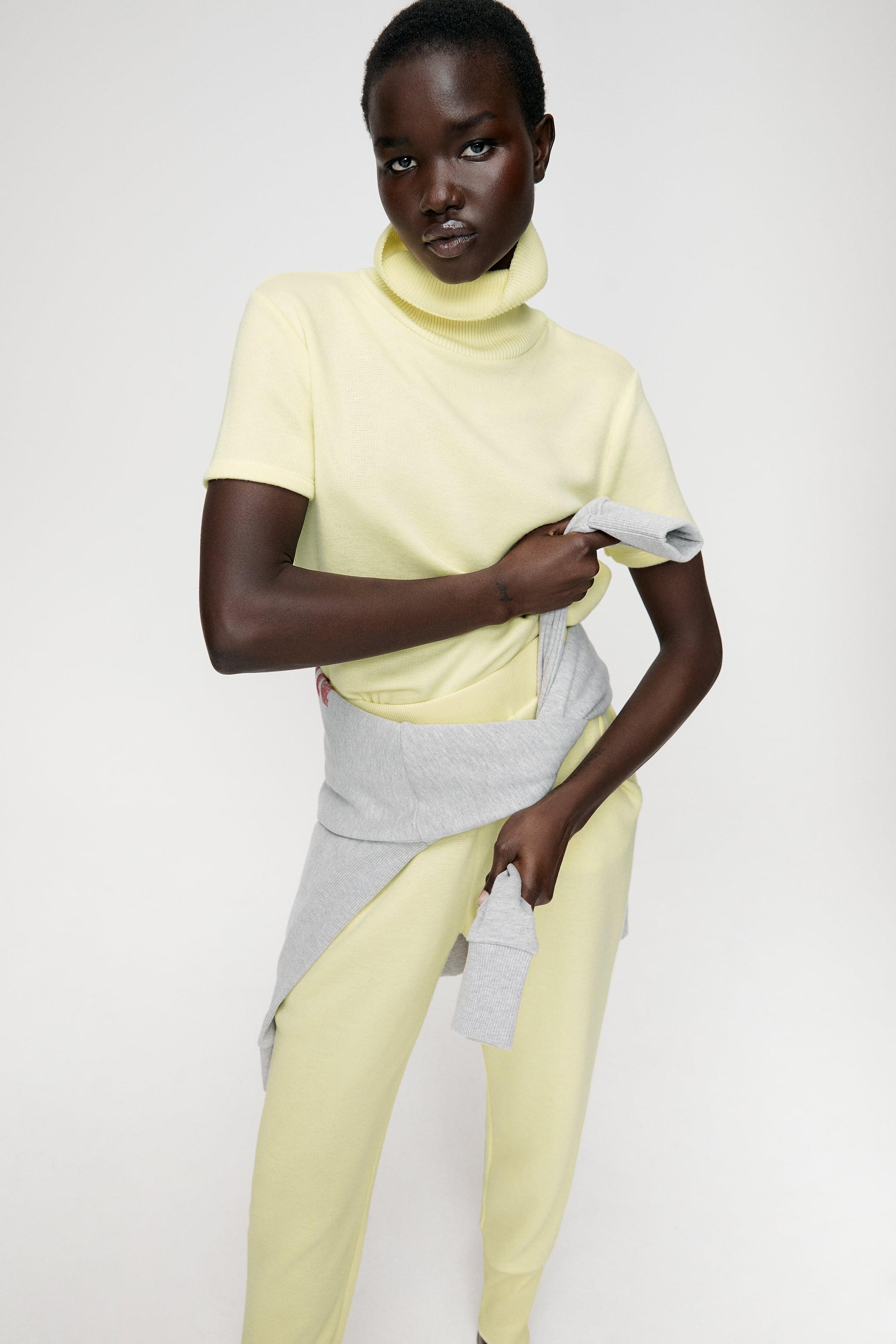 SOFT SHIRT WITH RIBBED COLLAR 1
