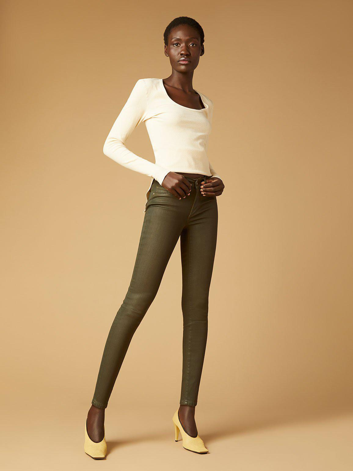 Florence Skinny Mid Rise Instasculpt Ankle | Winter Moss