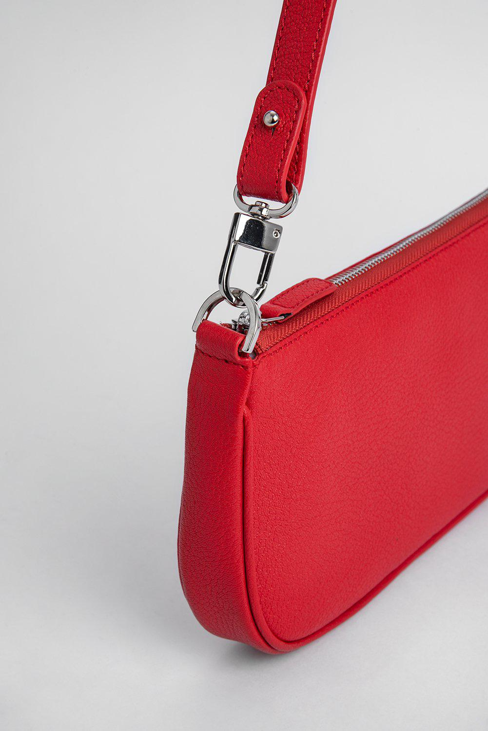 Rachel Red Grained Leather 2