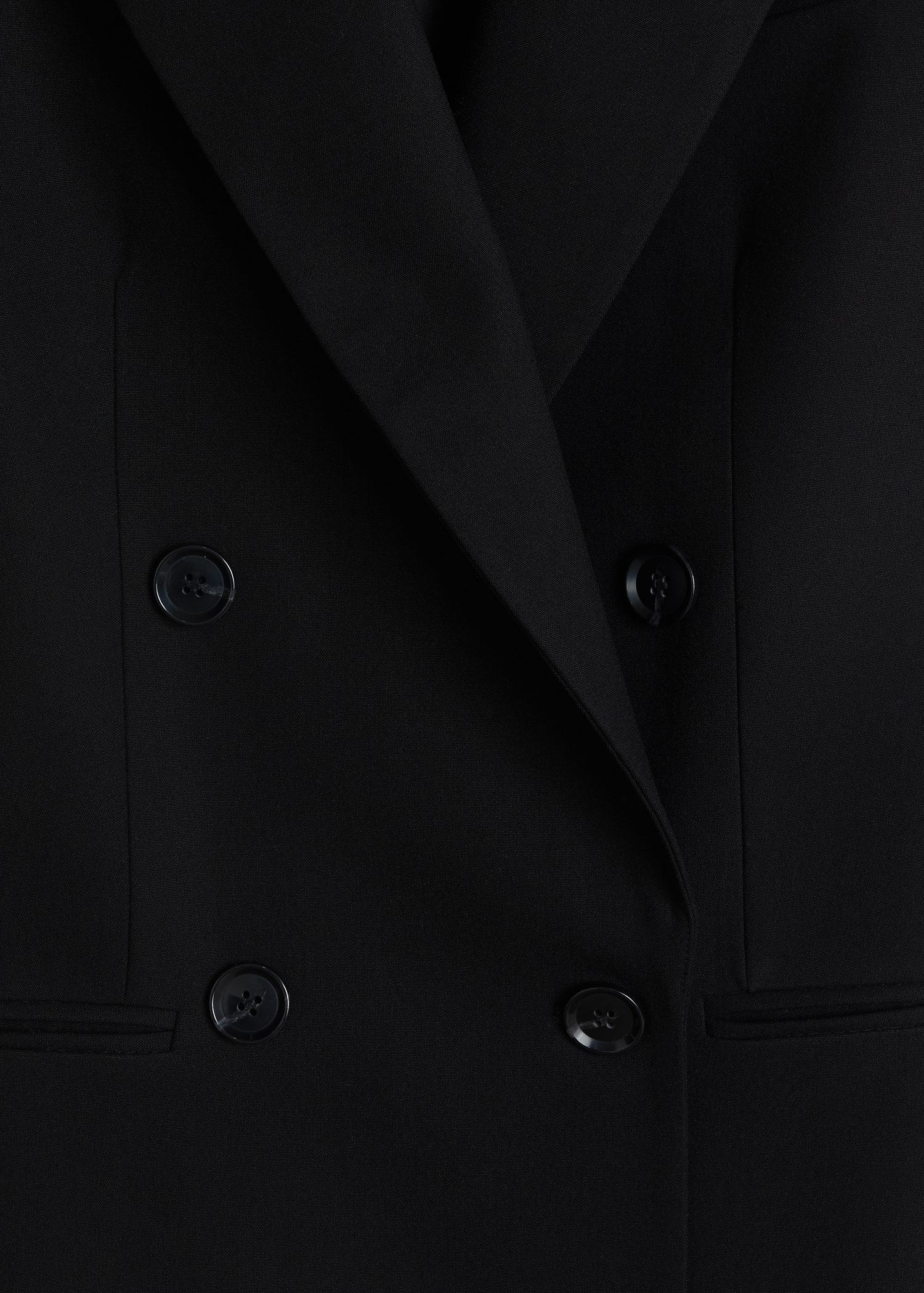 Double-breasted structured blazer 6