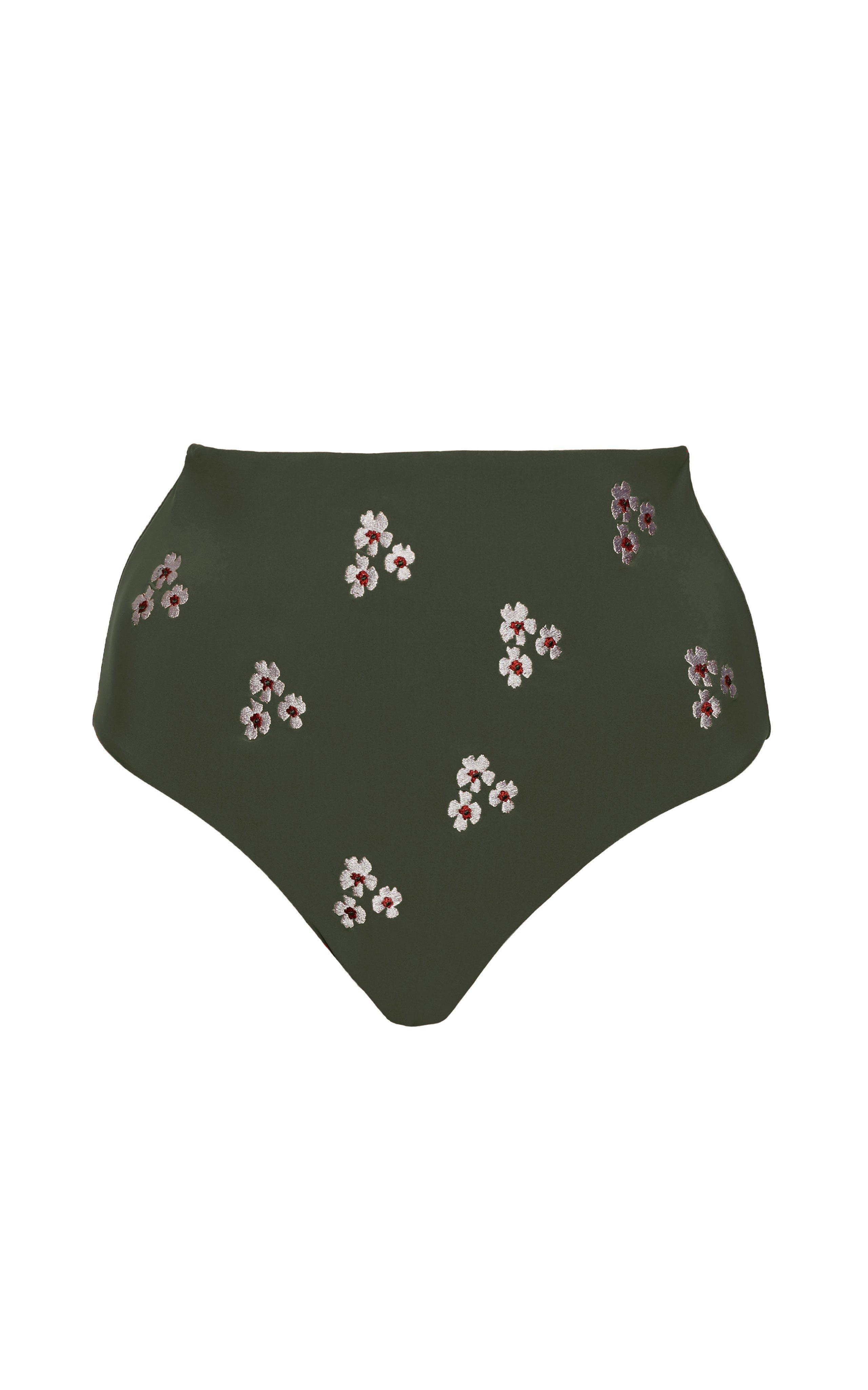 The High-Waisted Cheeky Bottom with Floral Embroidery