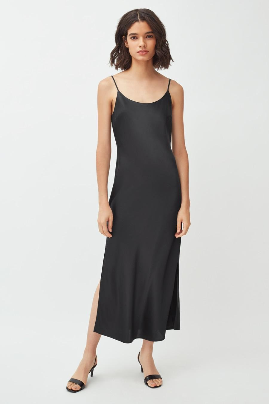 Women's Charmeuse Slip Dress in Black   Size: Large   Silk Charmeuse by Cuyana 1