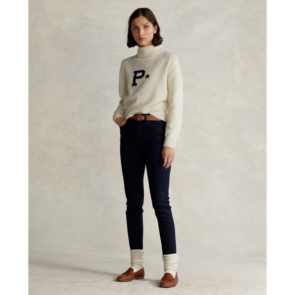 Letter Logo Wool-Cashmere Sweater