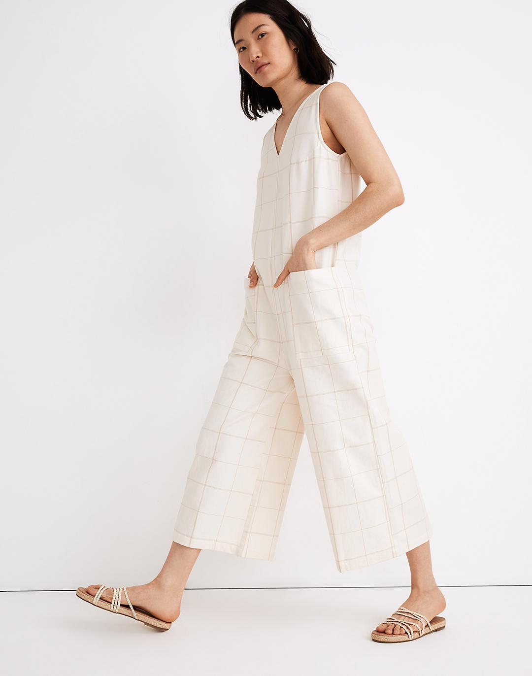 Madewell x LAUDE the Label Pocket Jumpsuit in Windowpane