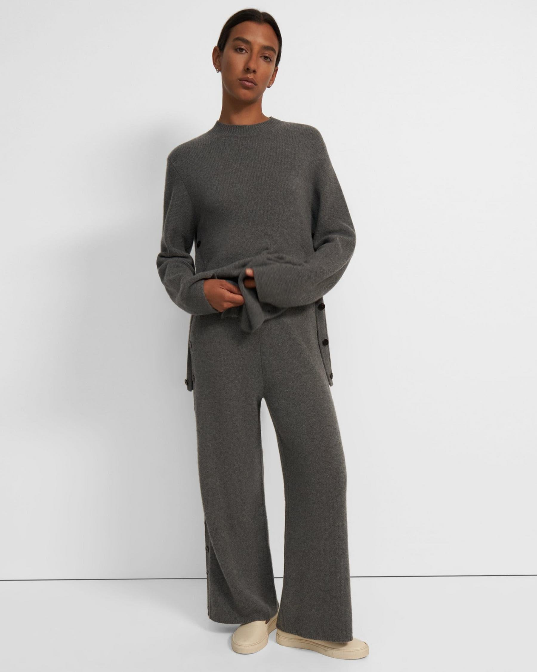Button-Up Pant in Wool-Cashmere
