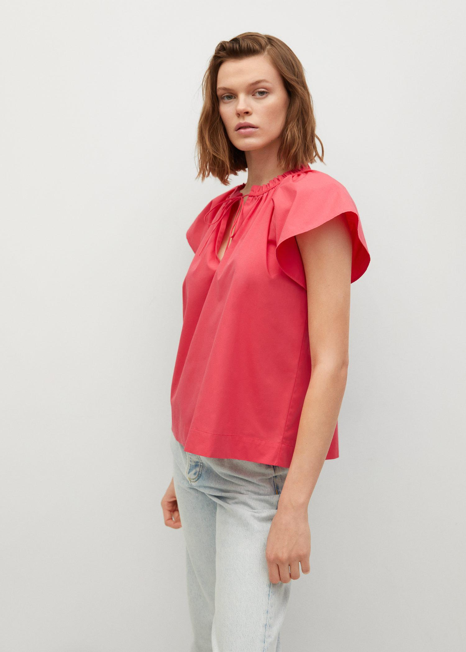 Ruched neck blouse 3