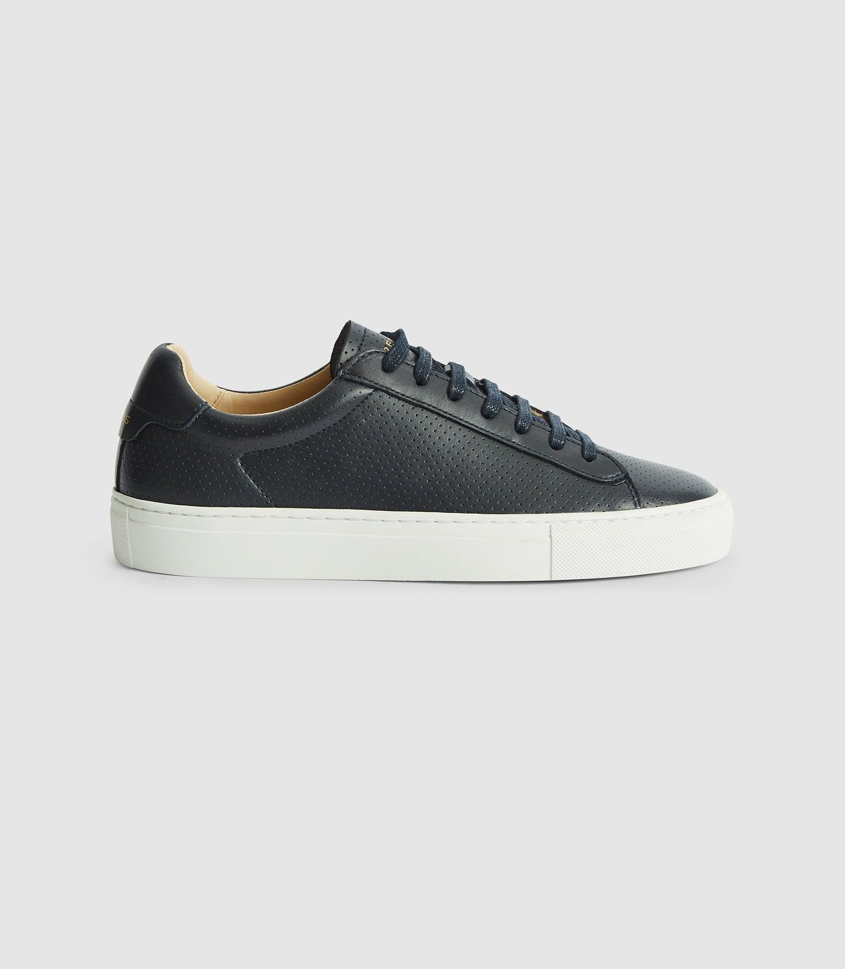 FINLEY - PERFORATED LEATHER TRAINERS