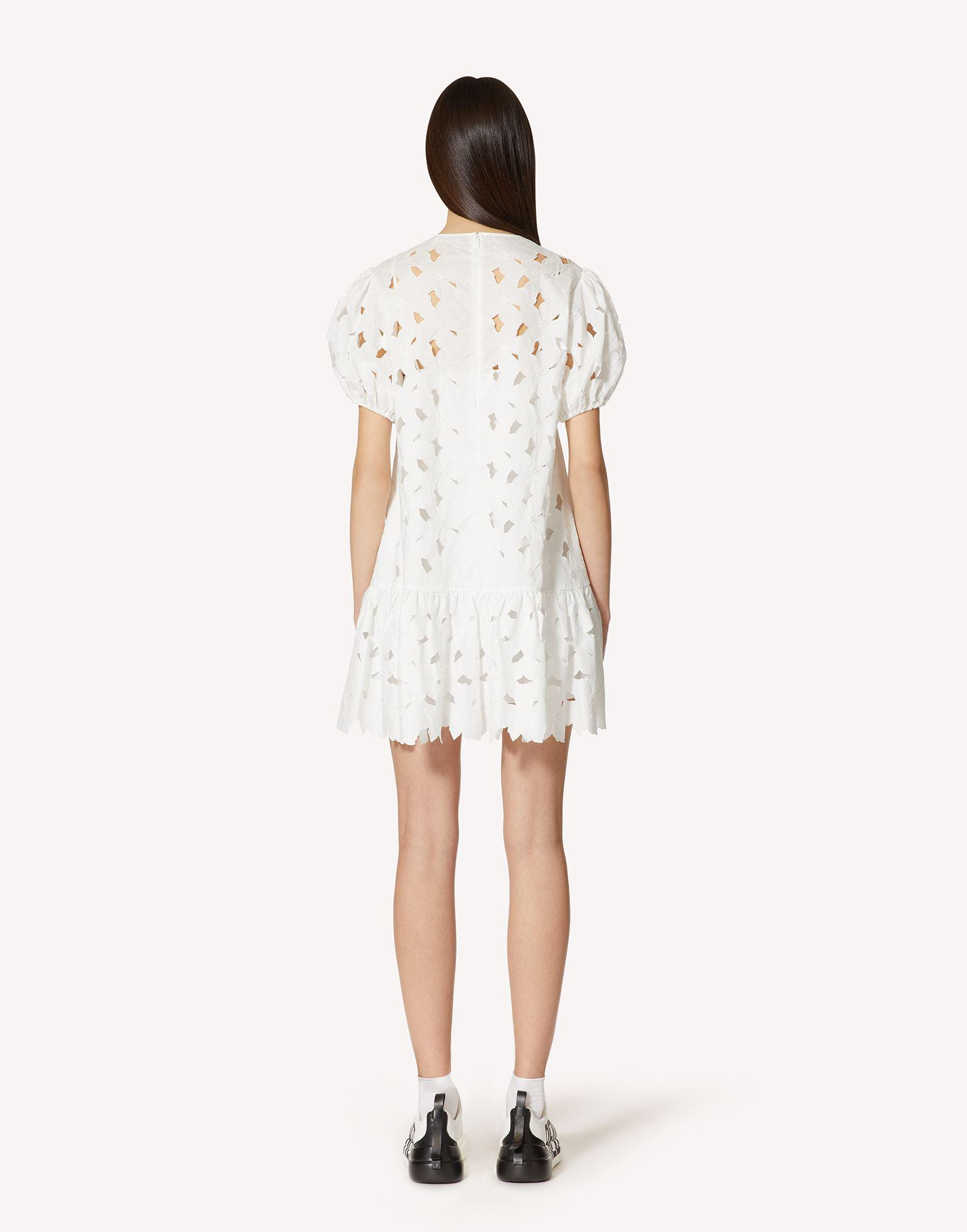 COTTON POPLIN DRESS WITH CUT-OUT EMBROIDERY 1