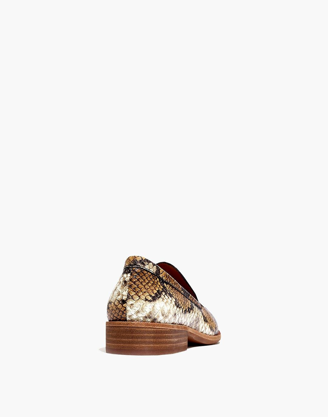The Frances Loafer in Snake Embossed Leather 2