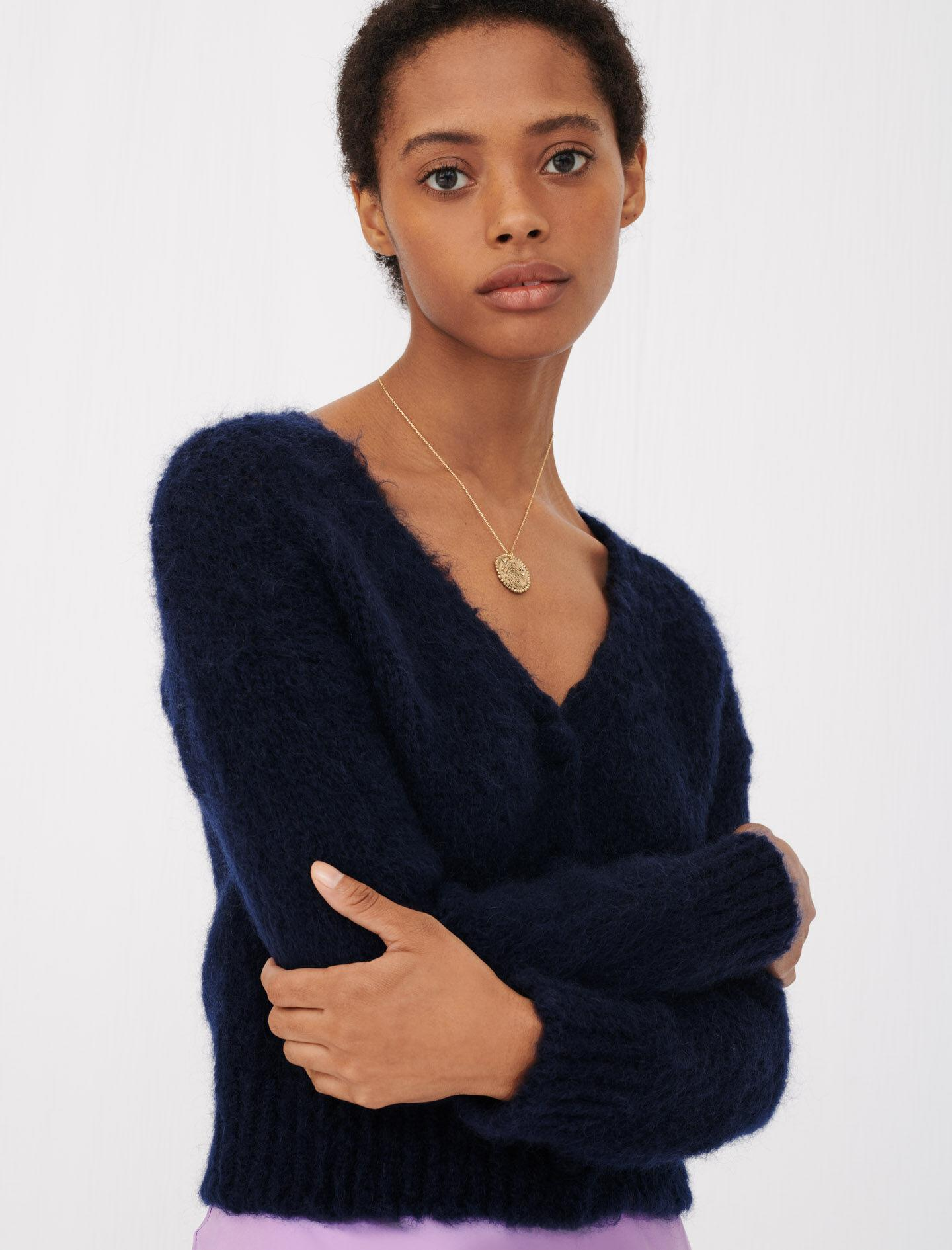 MOHAIR CARDIGAN WITH FANCY BUTTONS