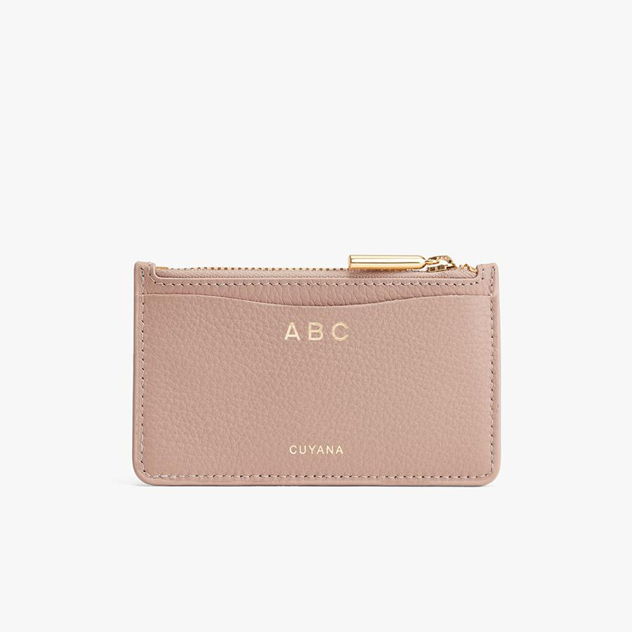 Women's Zip Cardholder in Soft Rose | Pebbled Leather by Cuyana 3