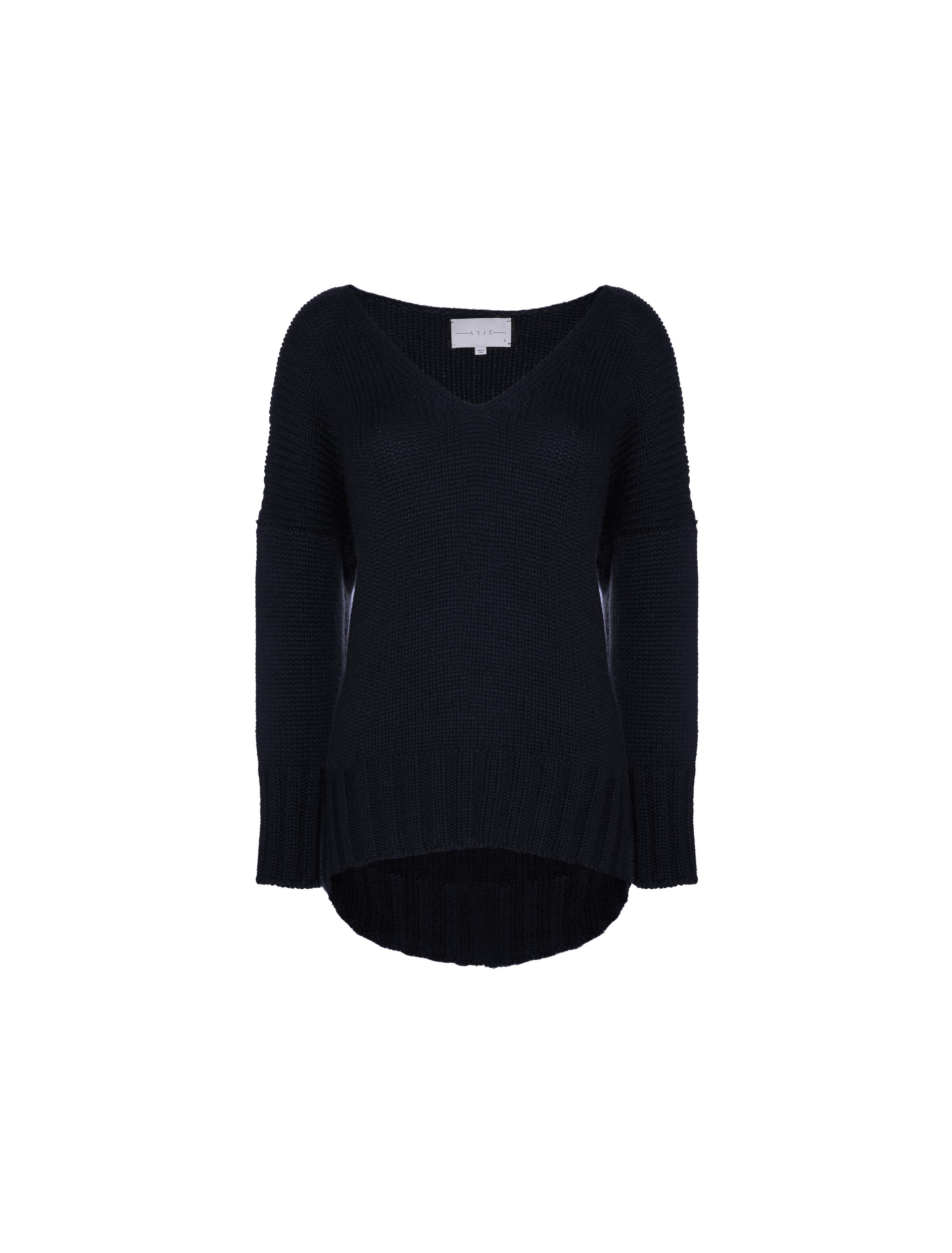 THE COURCHEVAL CASHMERE VNECK SWEATER
