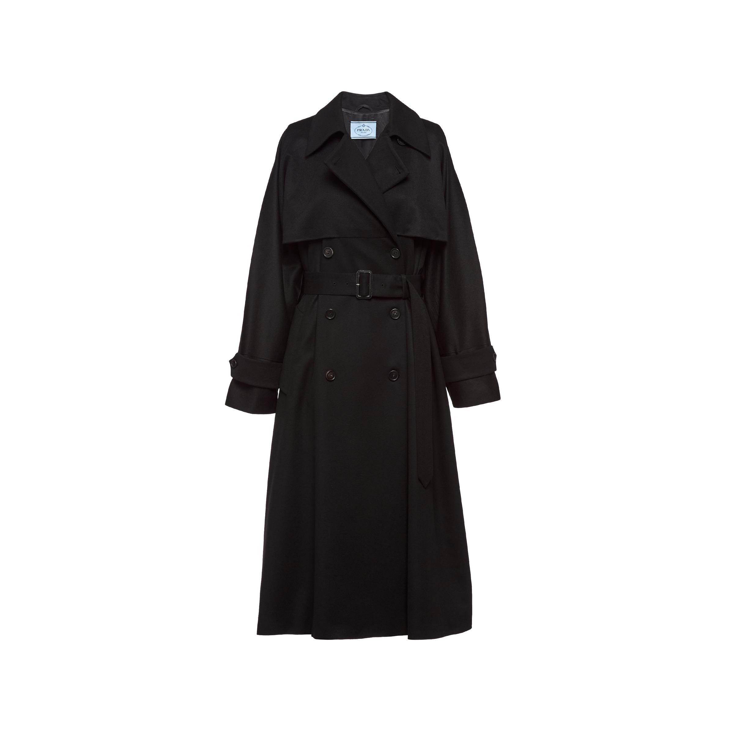 Double-breasted Cashmere Coat Women Black