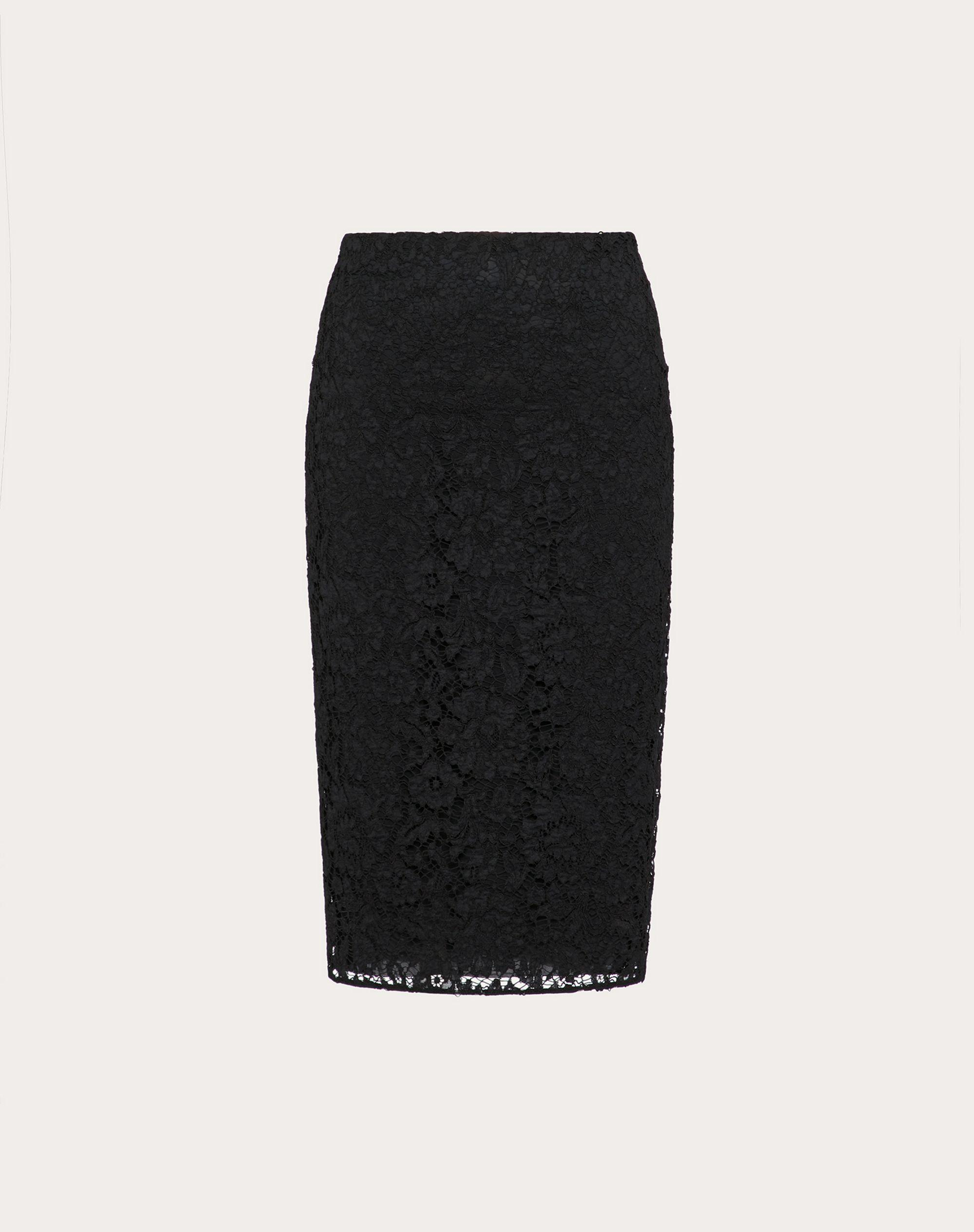 STRETCH HEAVY LACE PENCIL SKIRT 4