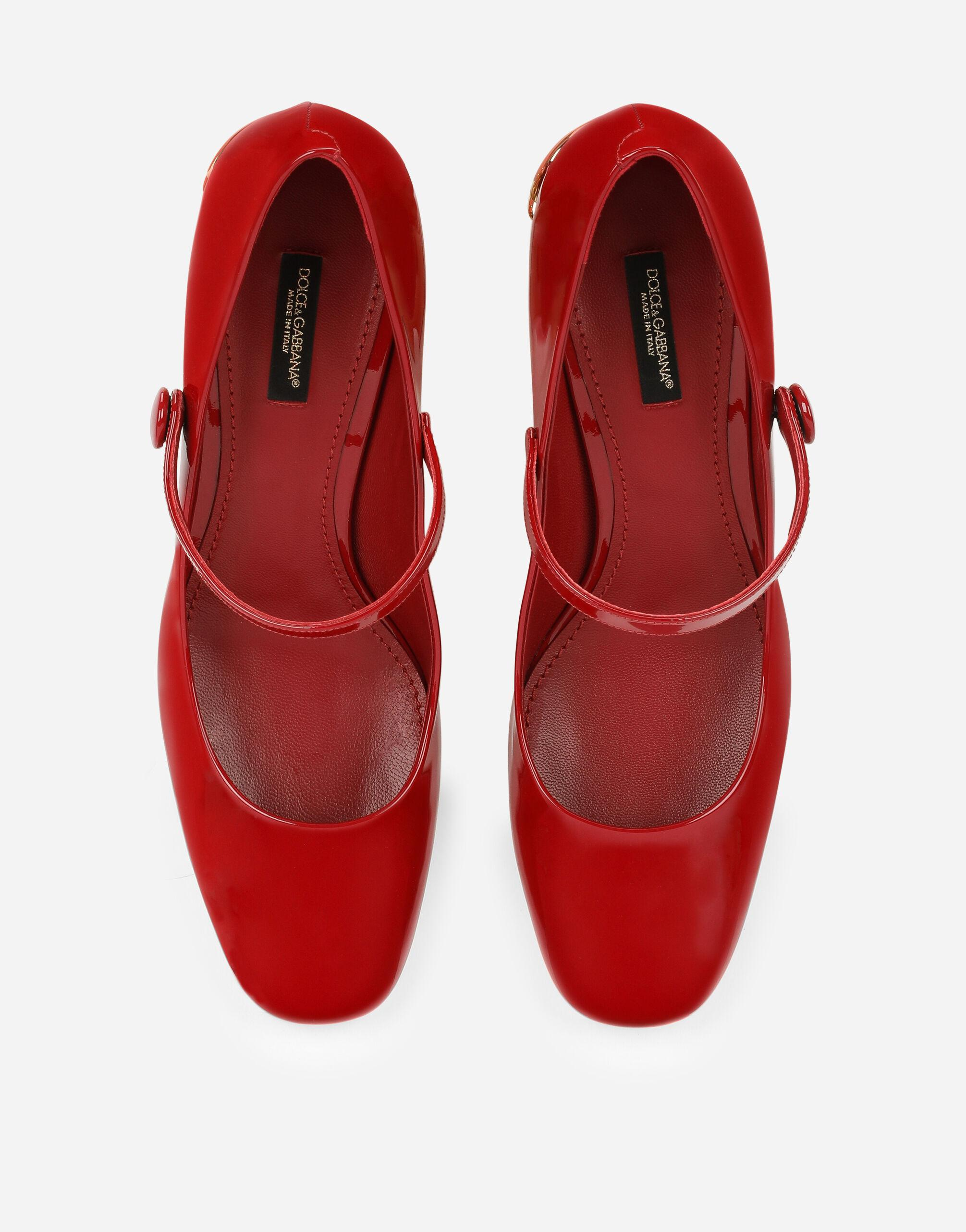 Patent leather Mary Janes with DG Karol heel 3