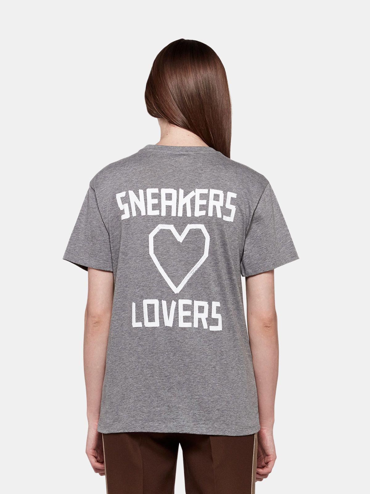 Grey Golden T-shirt with Sneakers Lovers print 1
