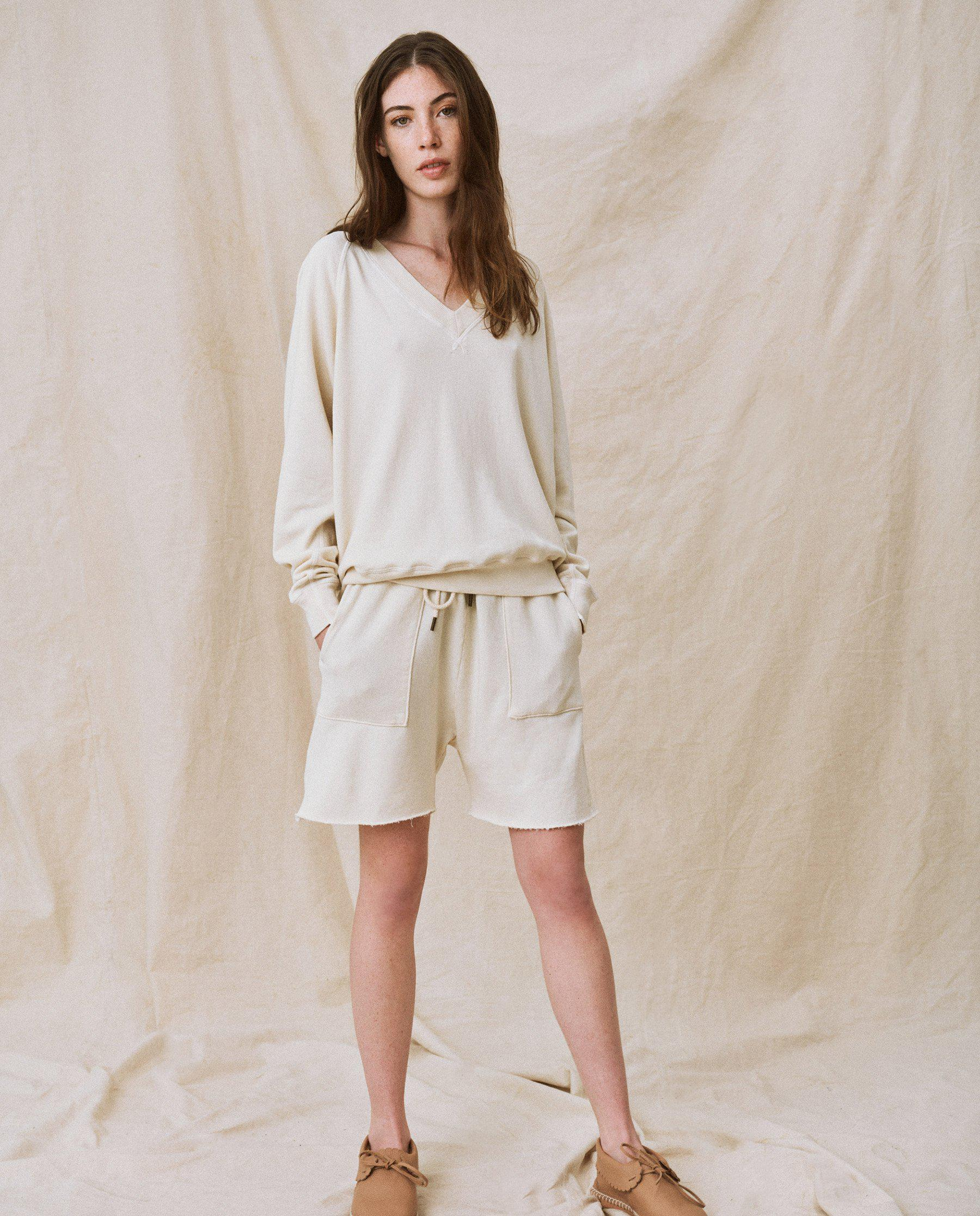 The Patch Pocket Sweat Short. -- Washed White
